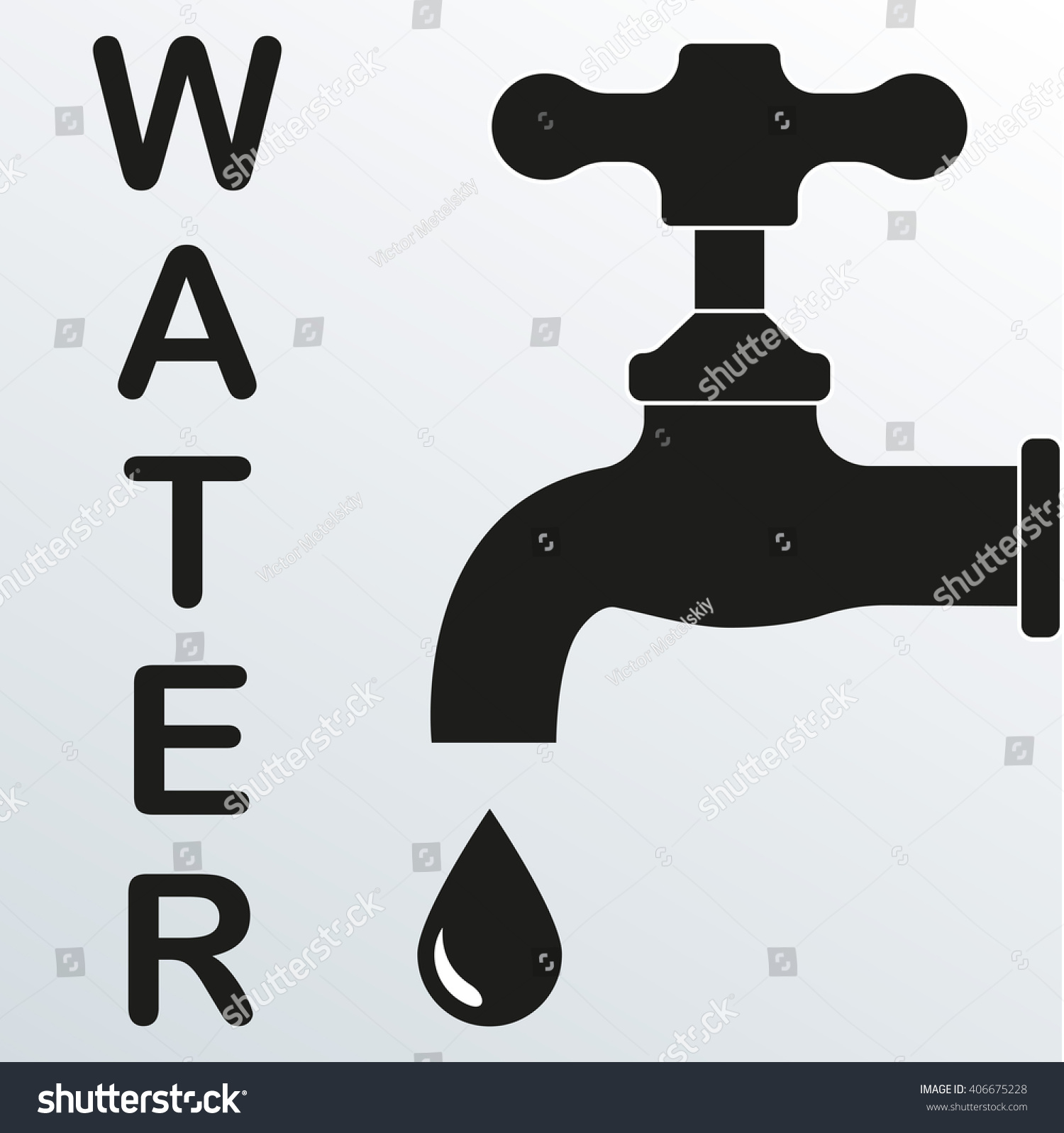 Faucet Tap Icon Illustration Tap Faucet Stock Illustration - Royalty ...