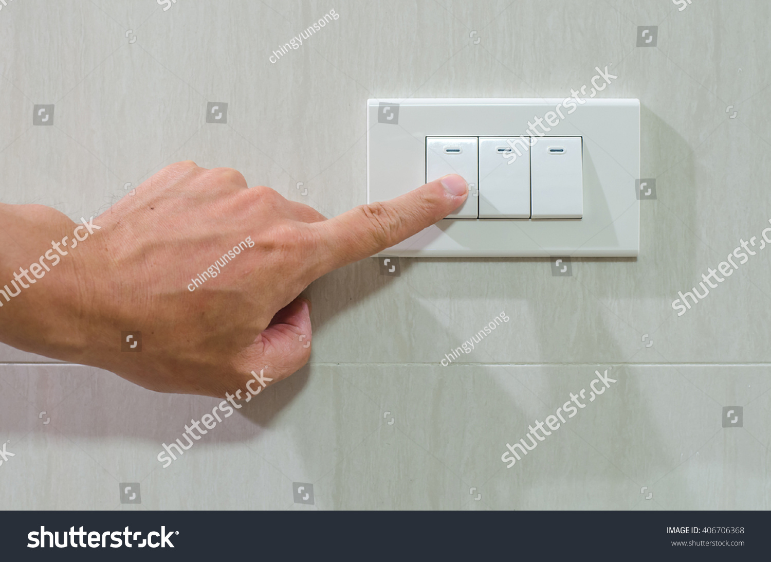 Press turn on/off electrical switch   EZ Canvas