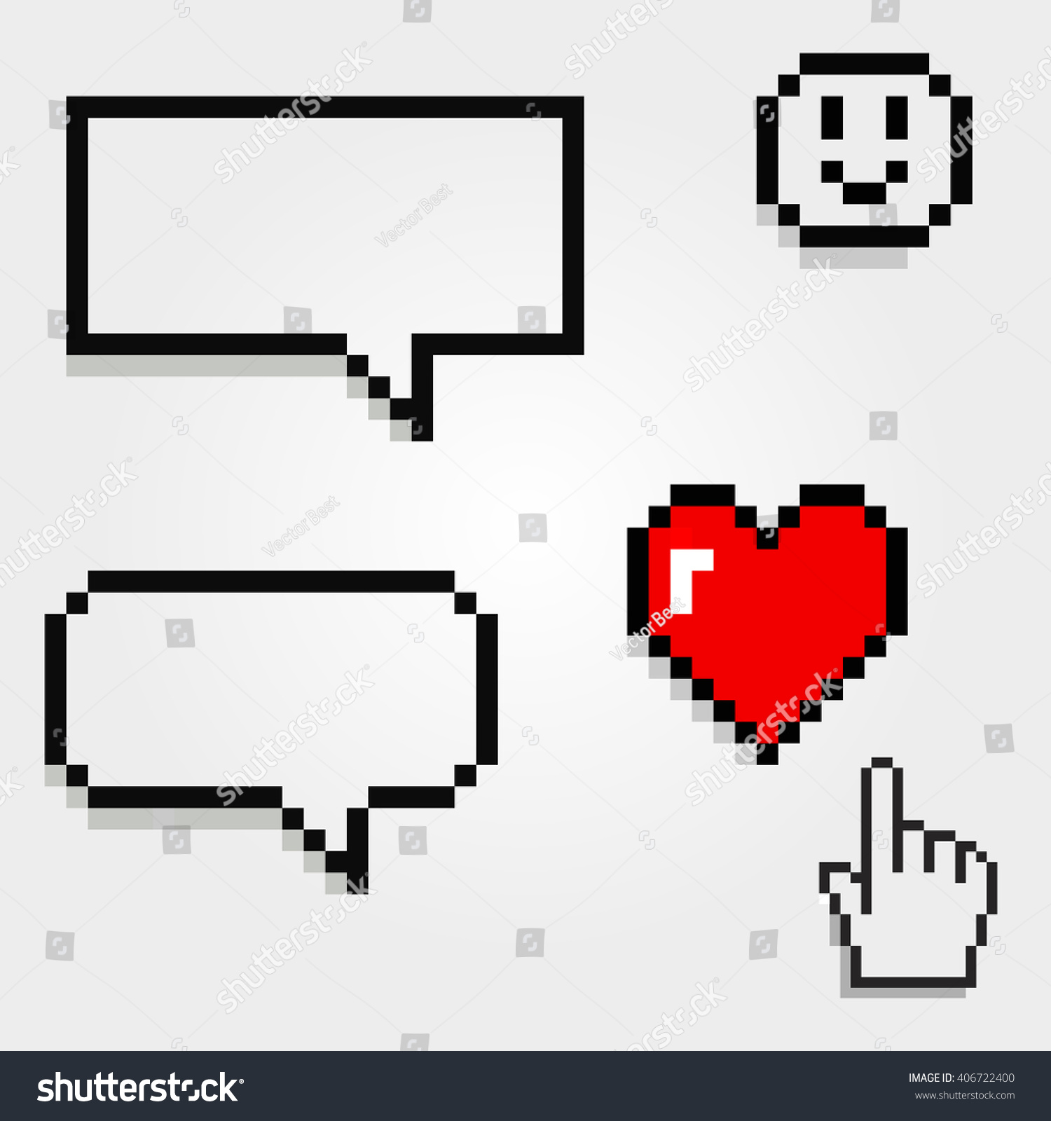 Bubble words and talk with hearts and smile Valentines icon