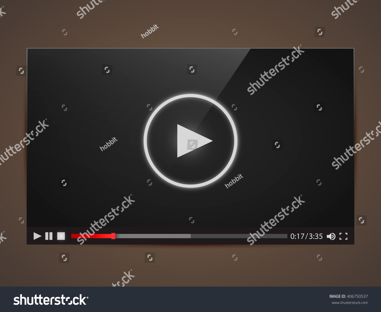 Modern Video Frame Video Player Interface Stock Vector 406750537 ...