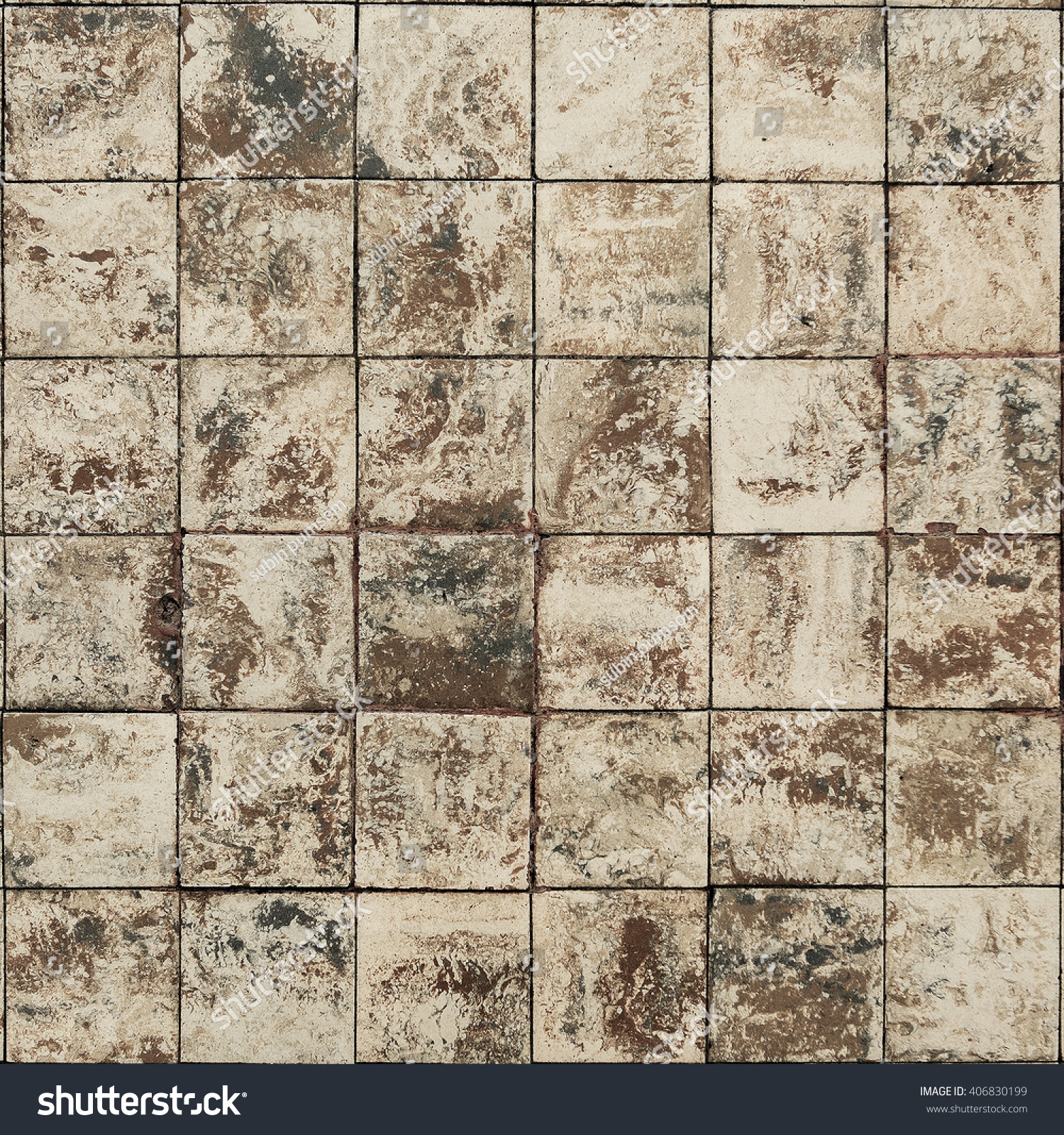 Old Wall Ceramic Tiles Patterns Handcraft Stock Photo 406830199 ...