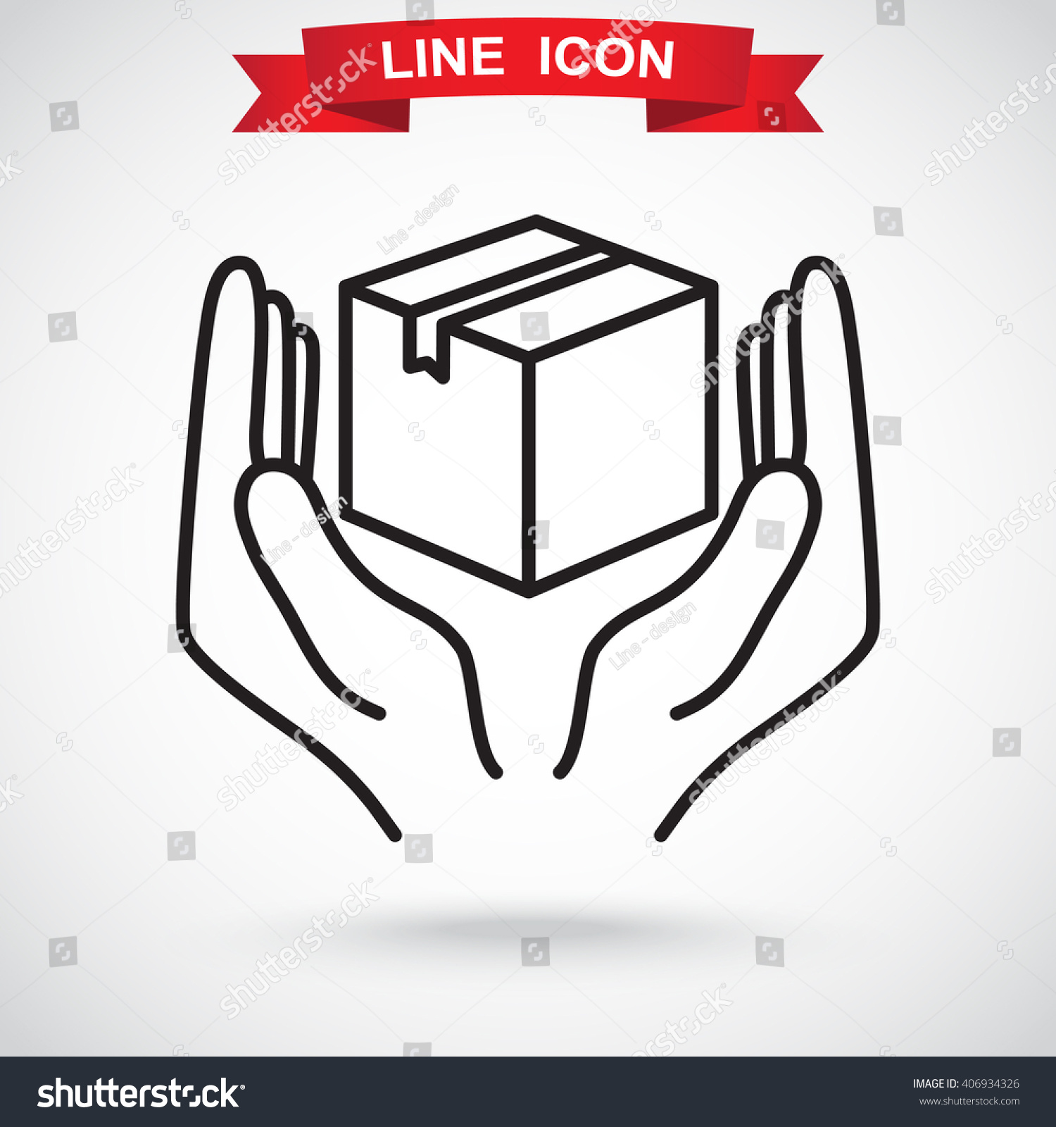 Line icon handle care sign stock vector 406934326 shutterstock line icon handle with care sign buycottarizona