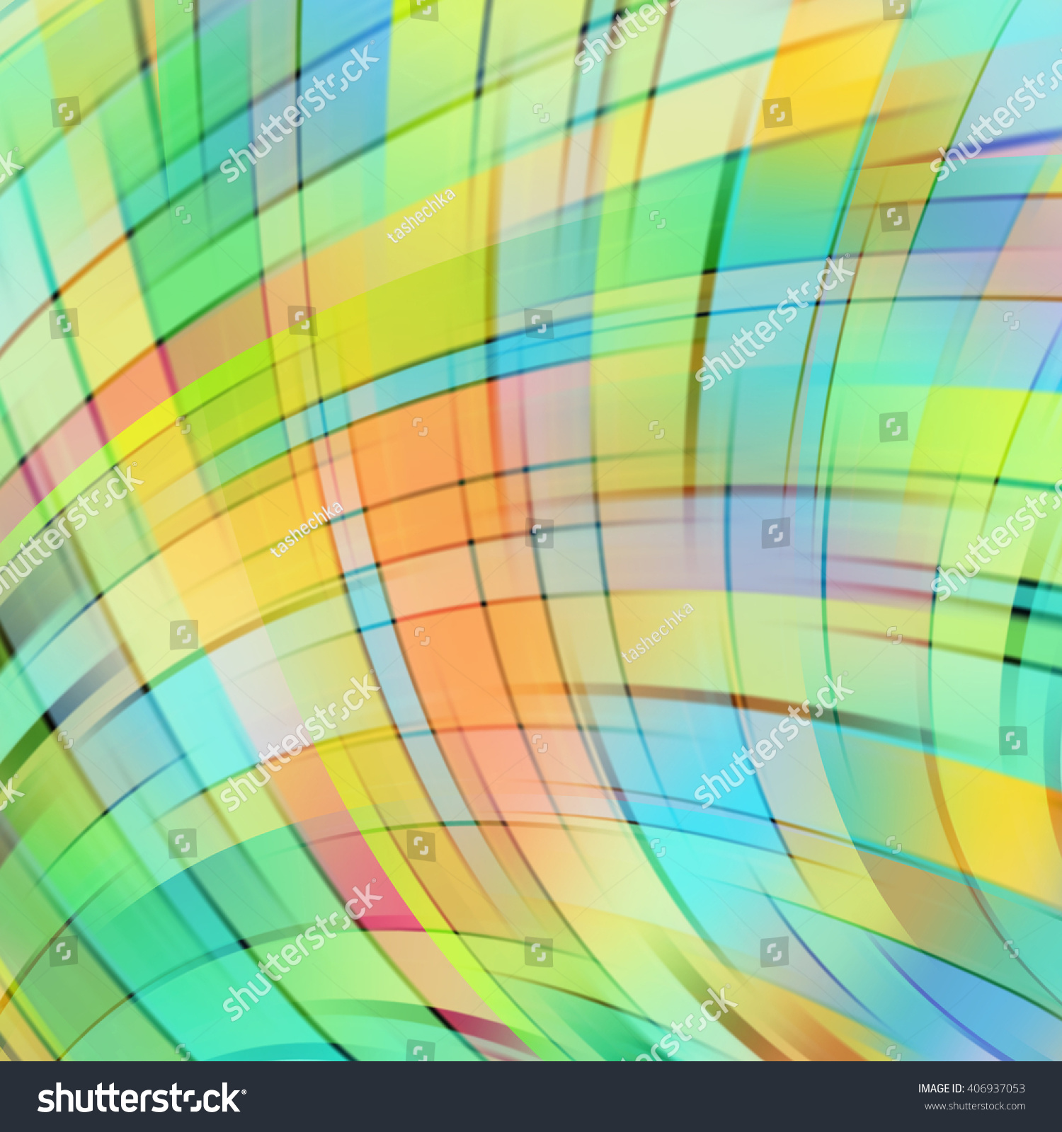 Abstract Green Background Smooth Lines Color Stock Vector 406937053 ...