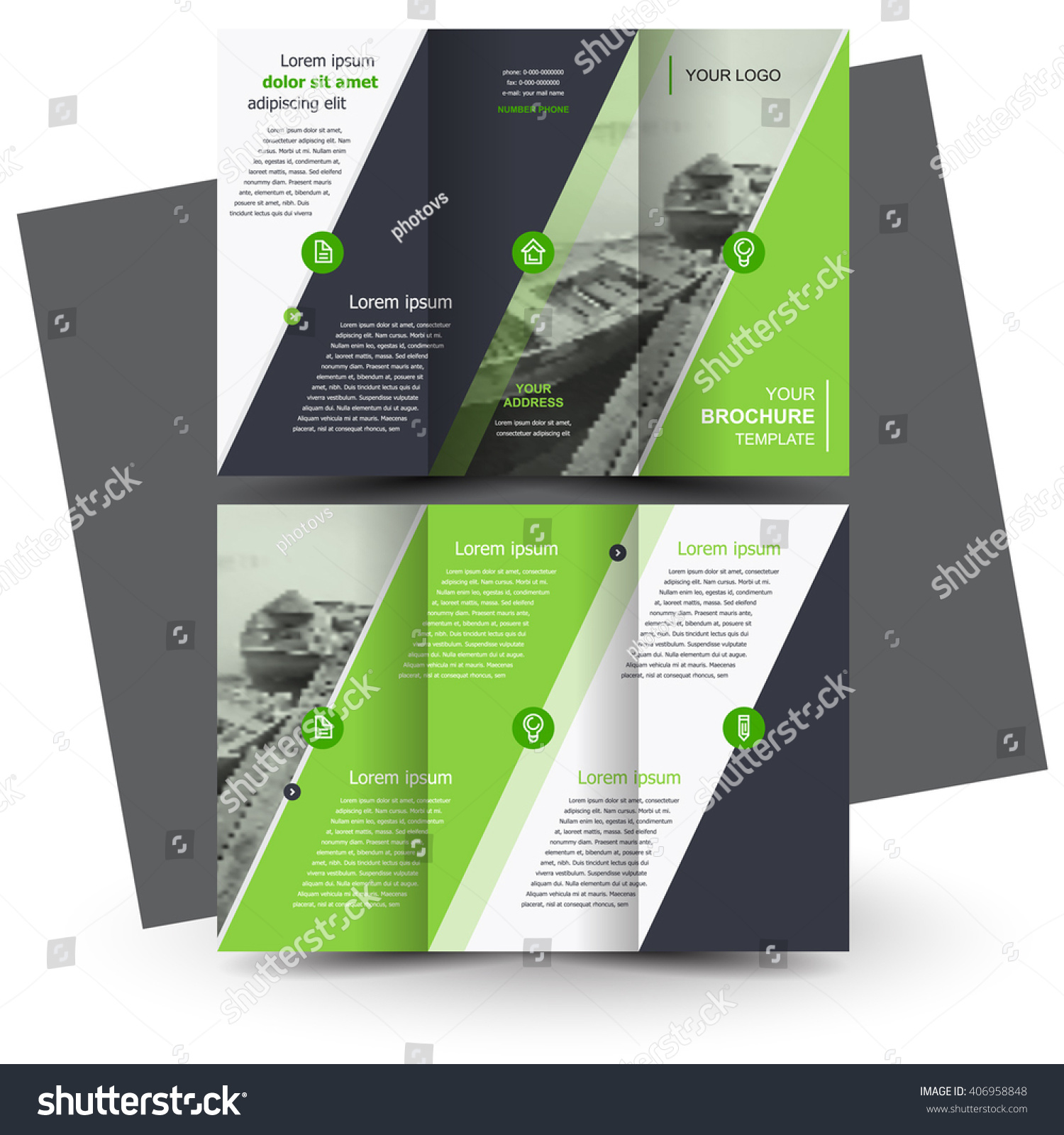 Brochure design business brochure template creative stock for Tri fold business brochure template