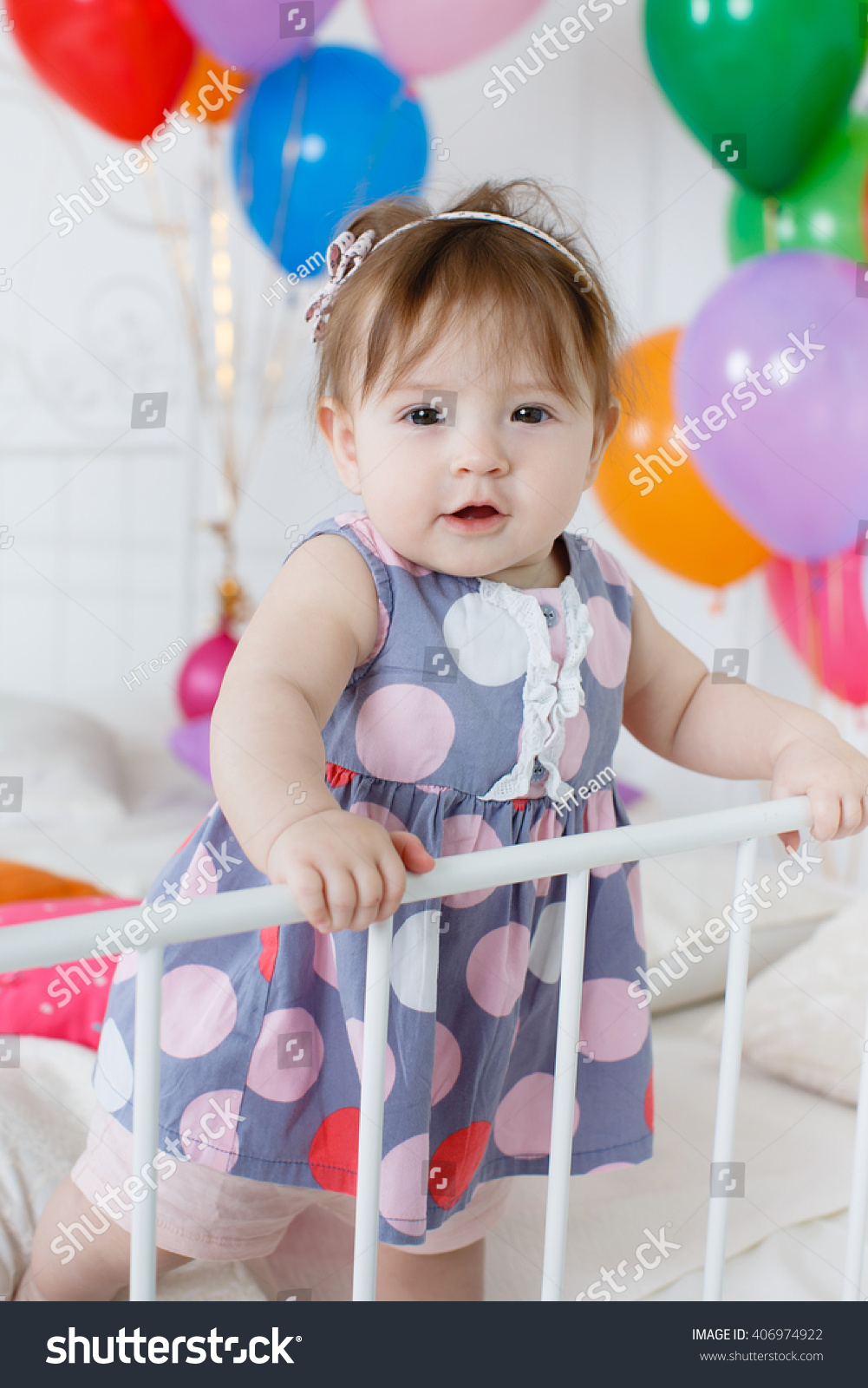 cute baby girl 12 year old stock photo (edit now) 406974922