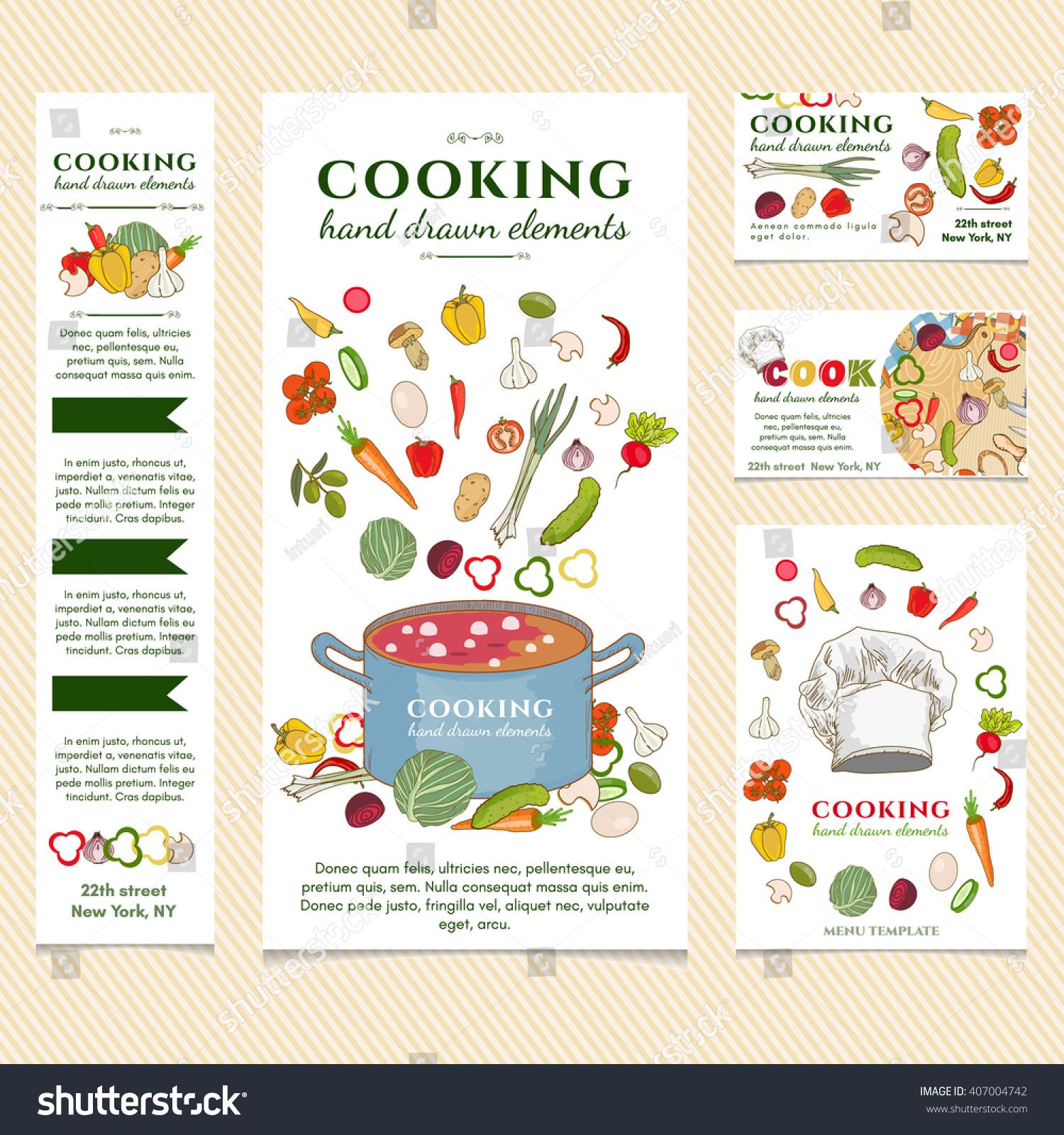 Cooking restaurant menu template vector illustration stock