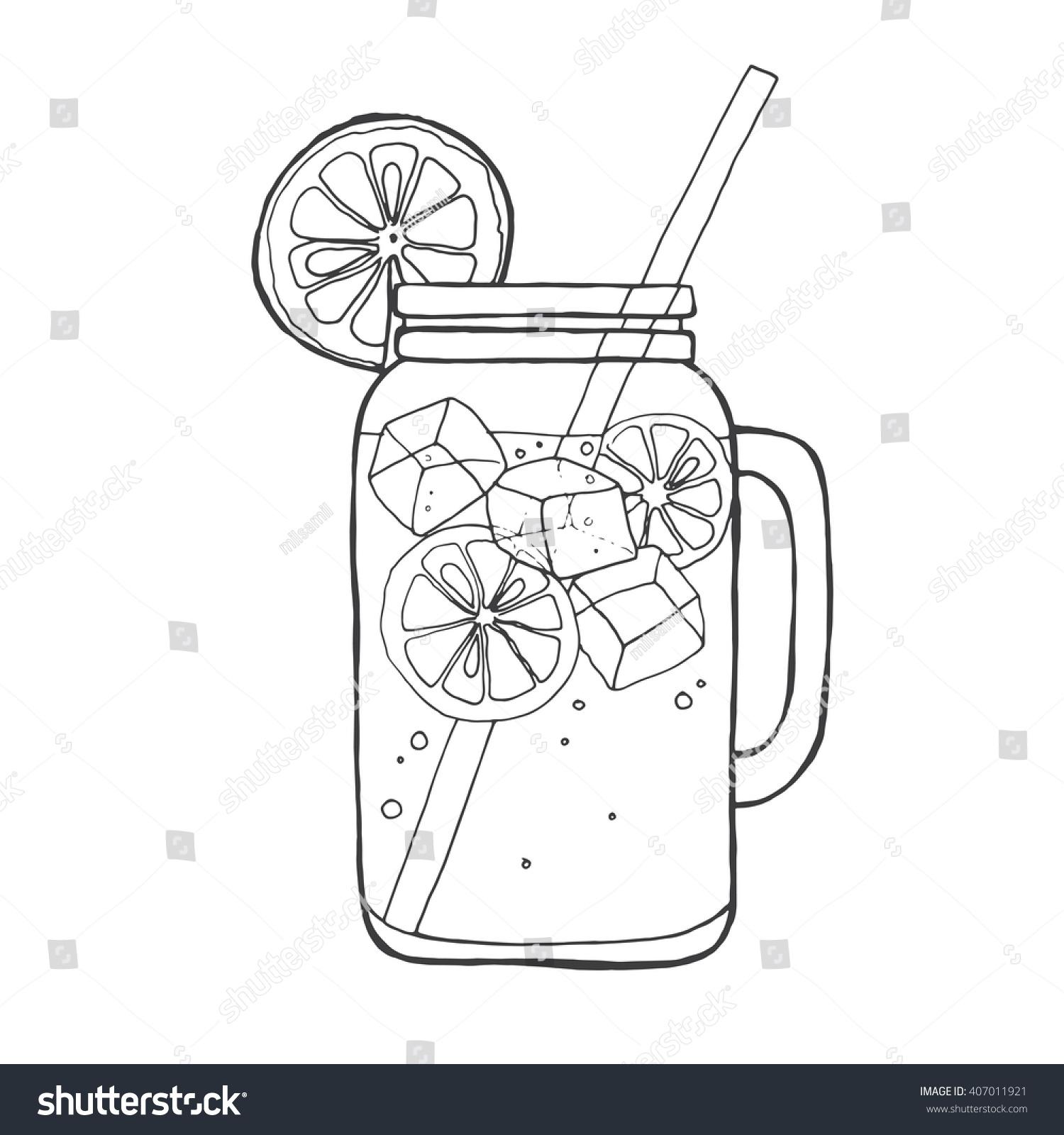 lemonade clipart black and white - photo #40
