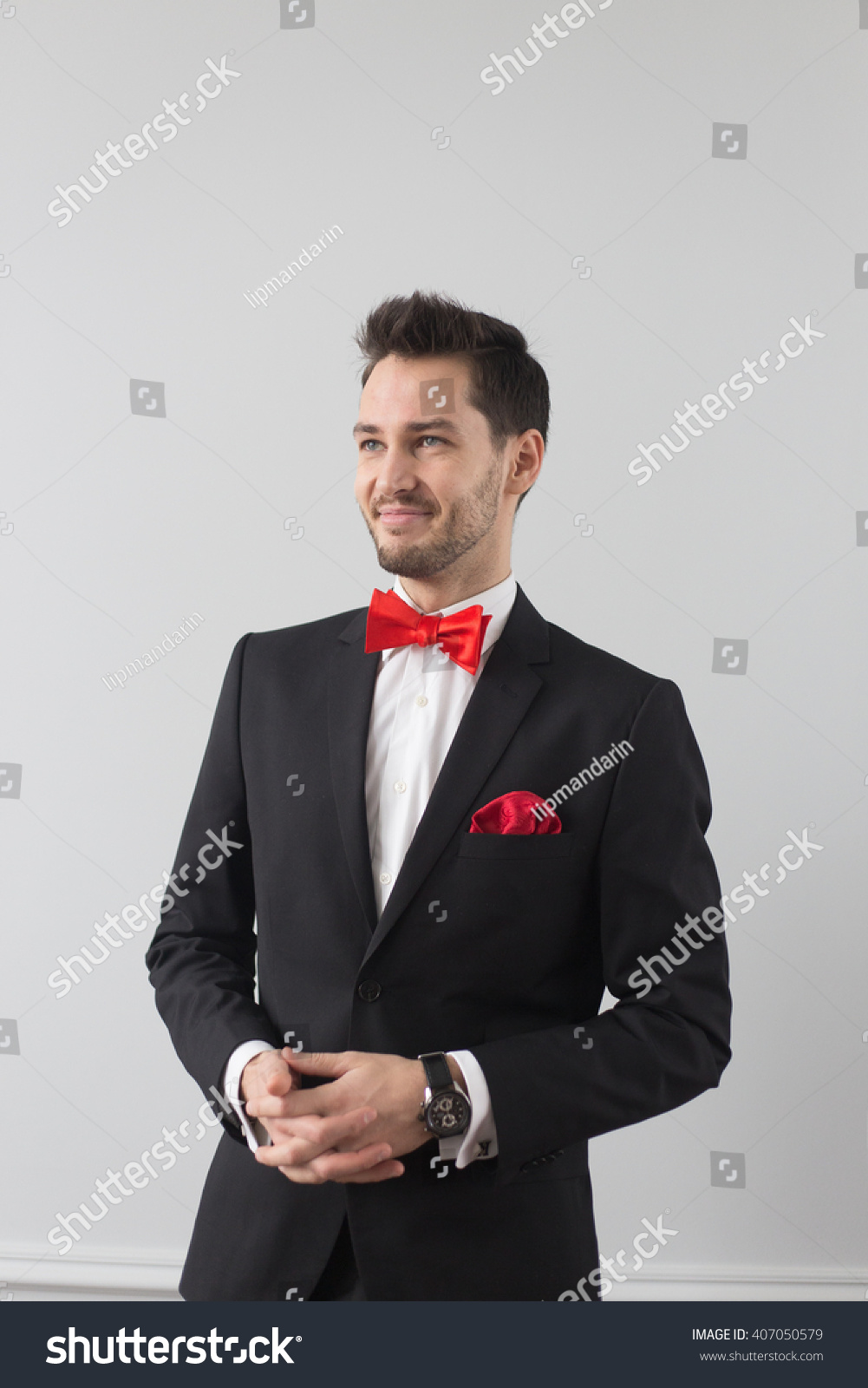 Royalty-free Portrait of a handsome young man.… #407050579 Stock