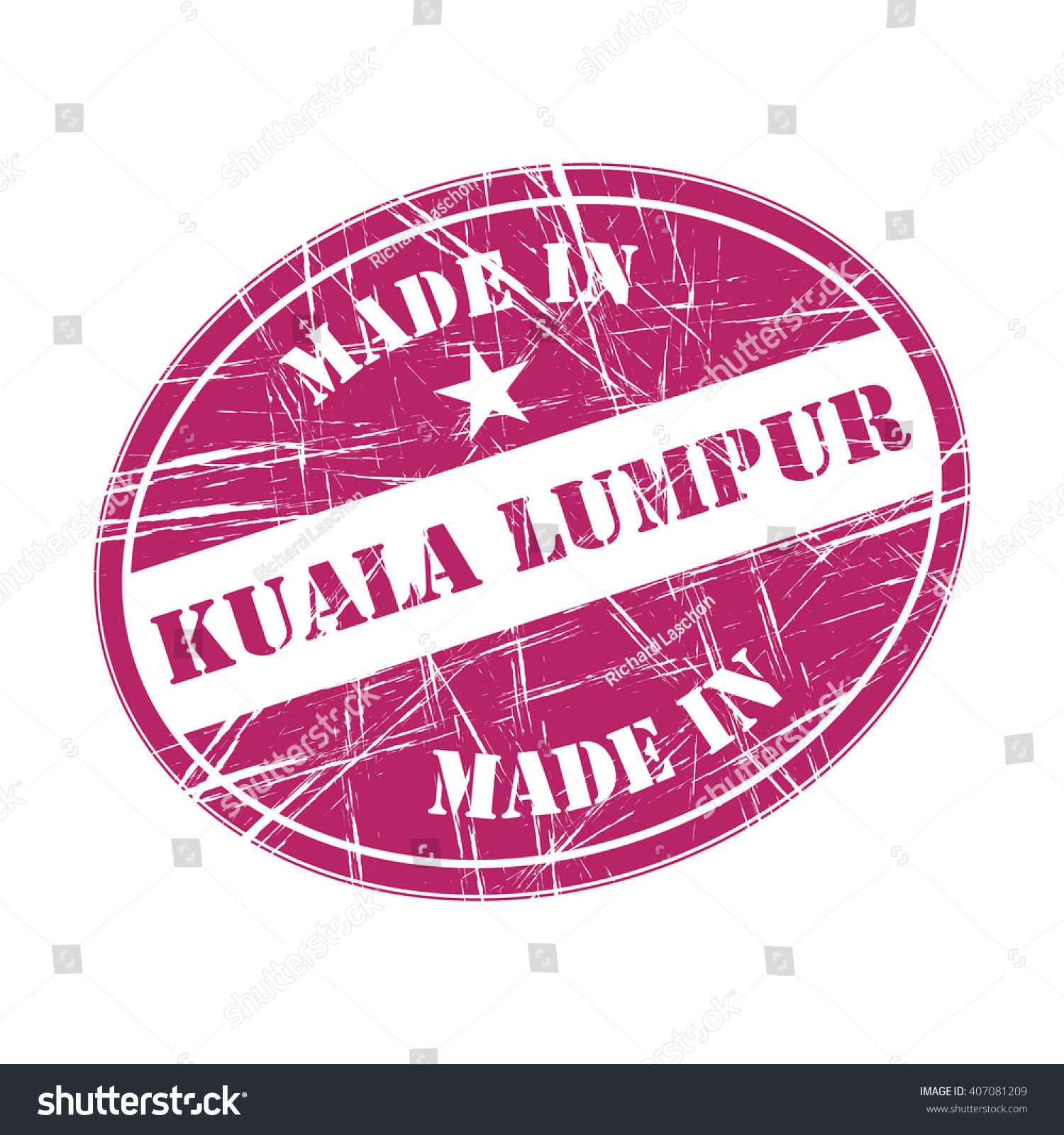 Made In Kuala Lumpur Rubber Stamp