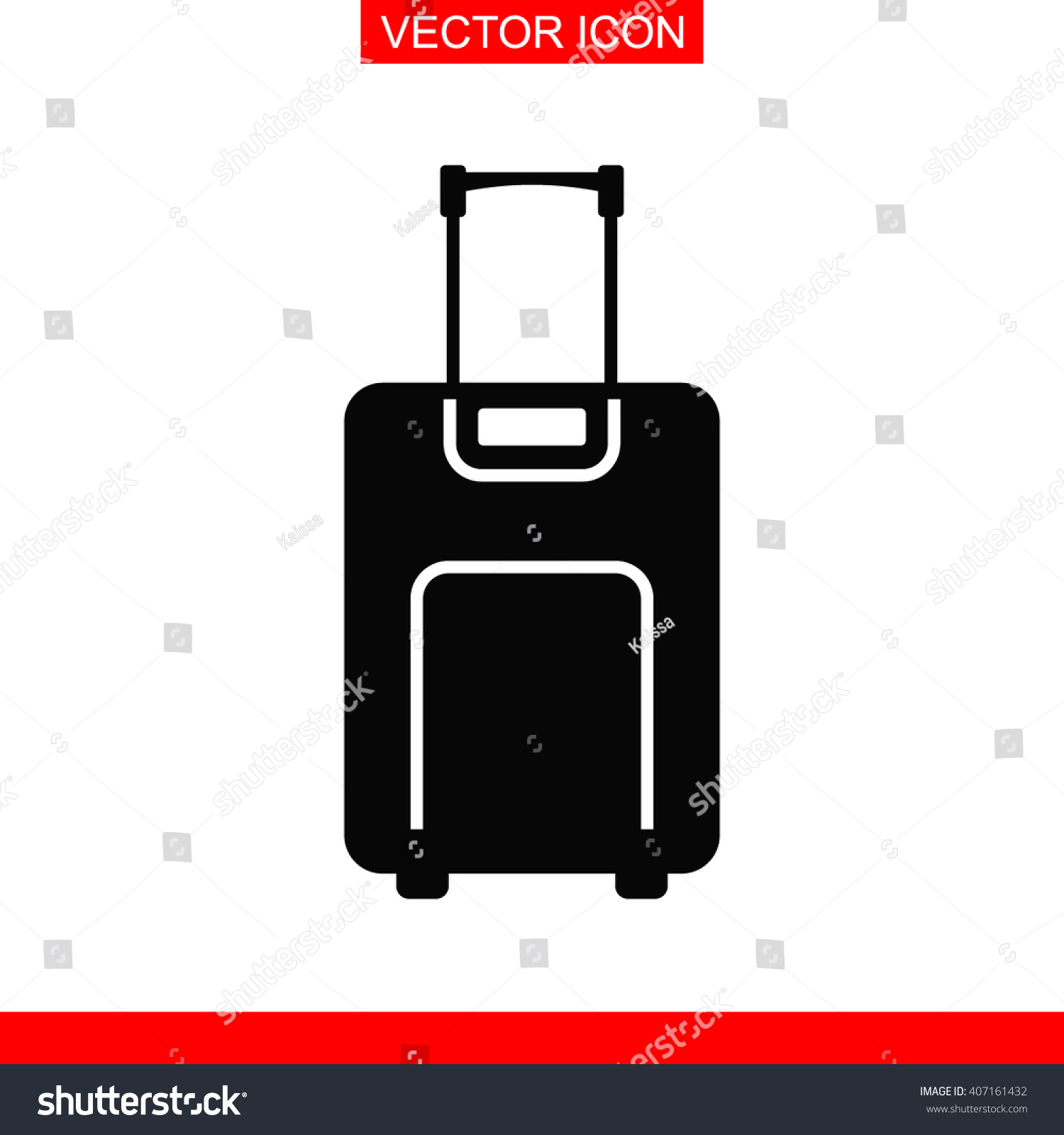 Luggage Icon Stock Vector 407161432 - Shutterstock