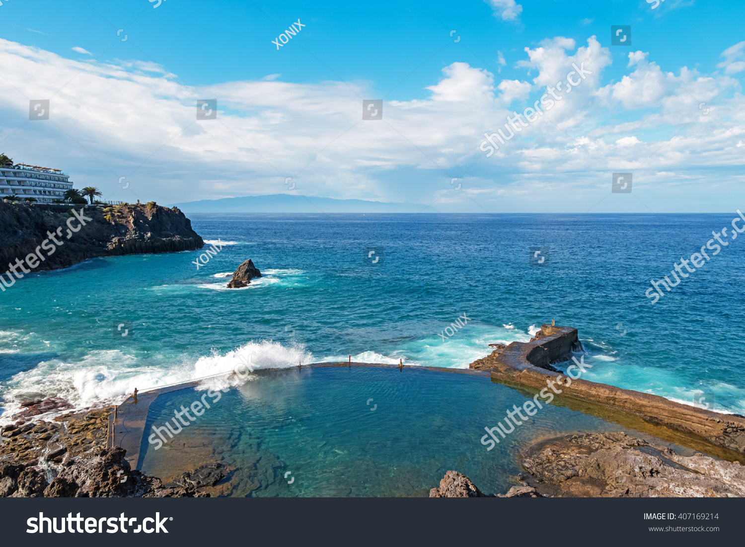 Lovely Natural Pool Crystal Clear Azure Stock Photo Edit Now