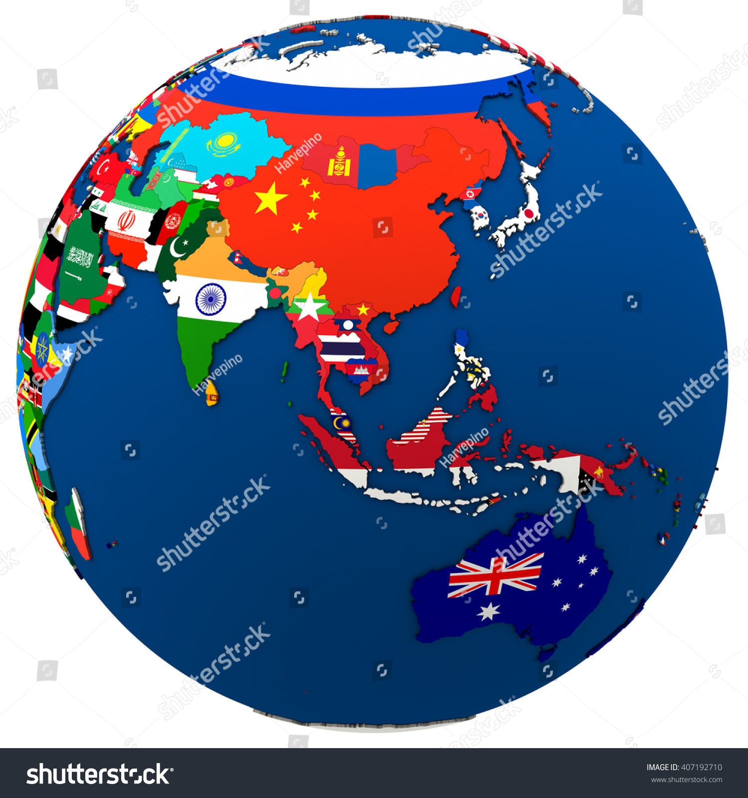 Political Map Southeast Asia Australia Each Illustration – Southeast Asia Map Political