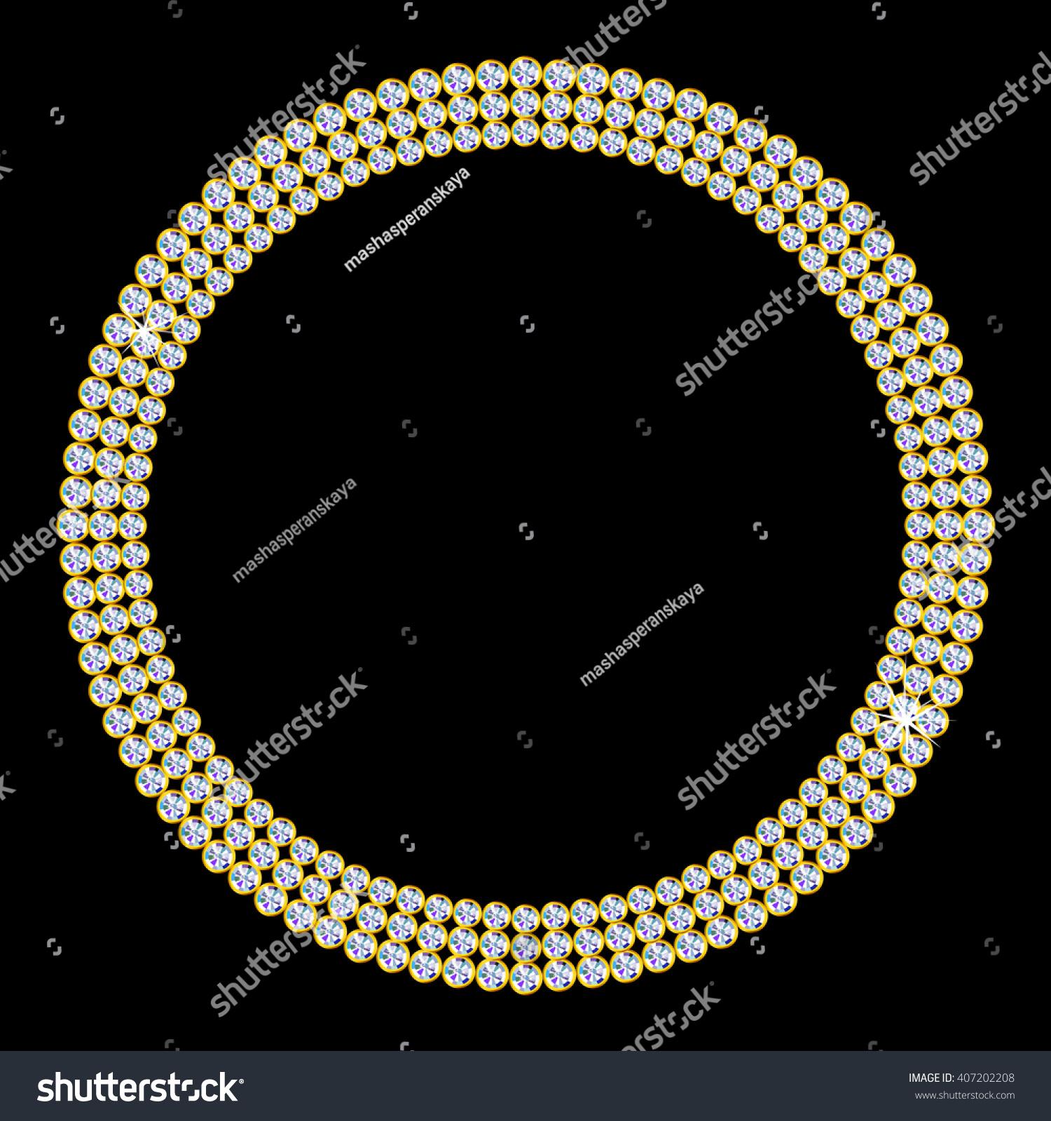 Luxury Circle Diamond Frame Vector Illustration Stock Vector ...