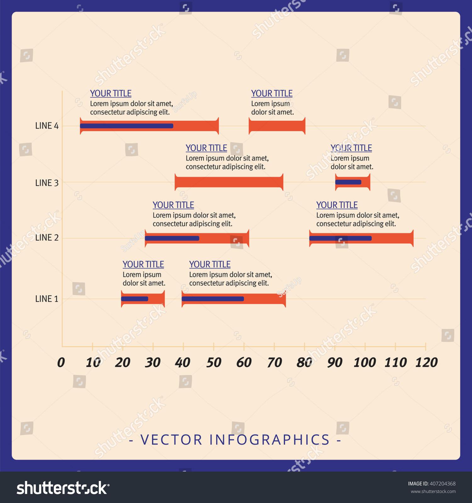 Horizontal Histogram Template Stock Vector 407204368 - Shutterstock