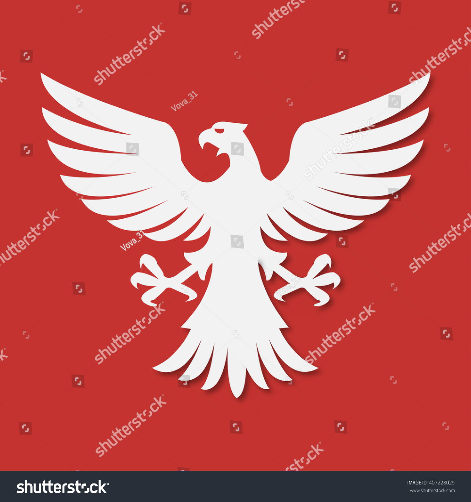 National arms america poland eagle white stock vector 407228029 national arms of america poland eagle white red biocorpaavc
