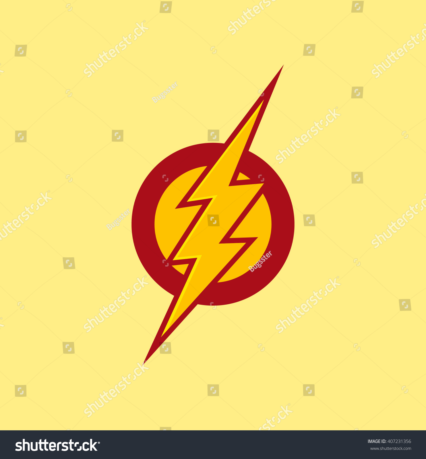 vector superhero flash red color stock vector 407231356