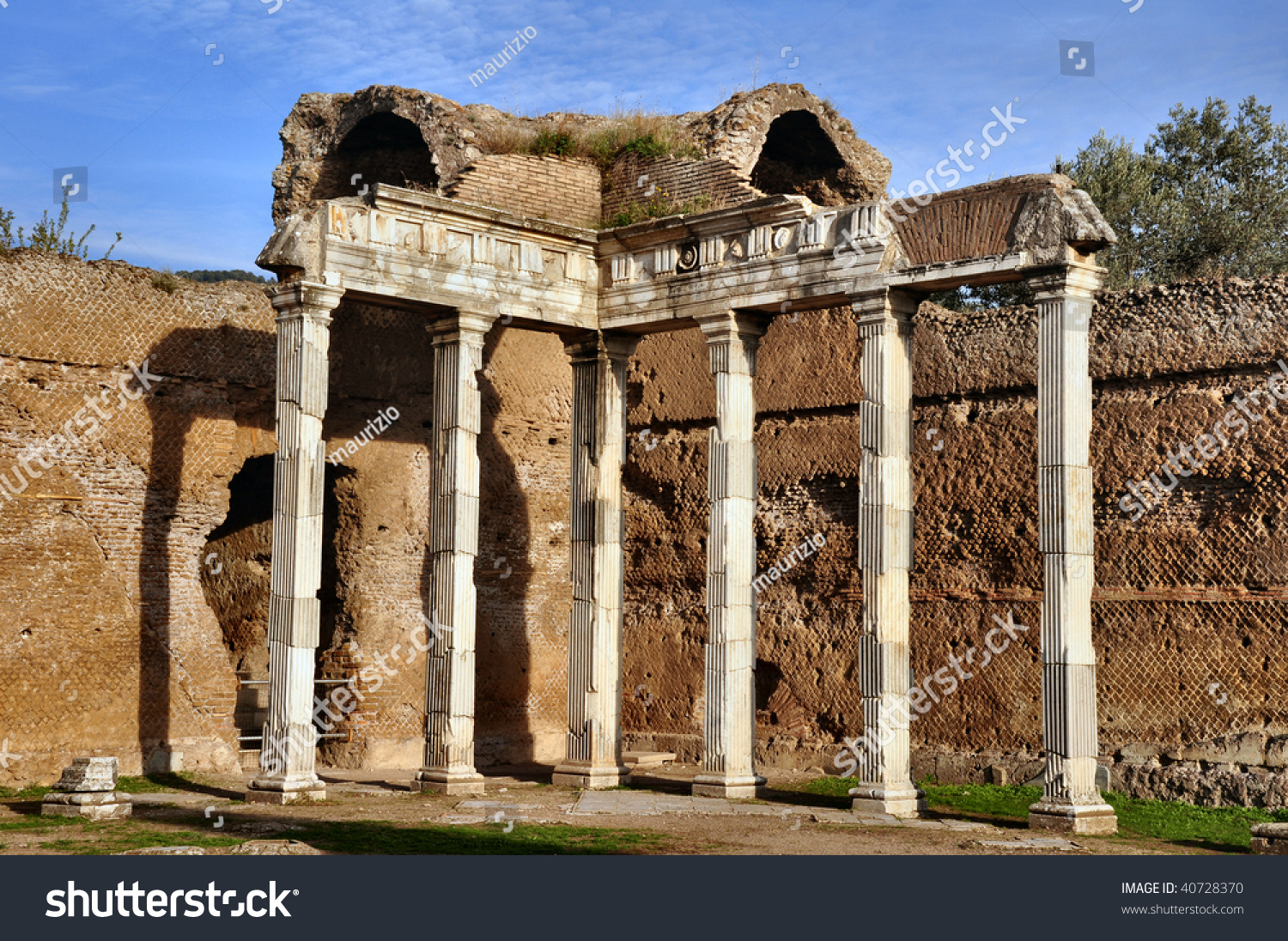Villa Adriana Tivoli Rome Italy Stock Photo (Download Now) 40728370 ...