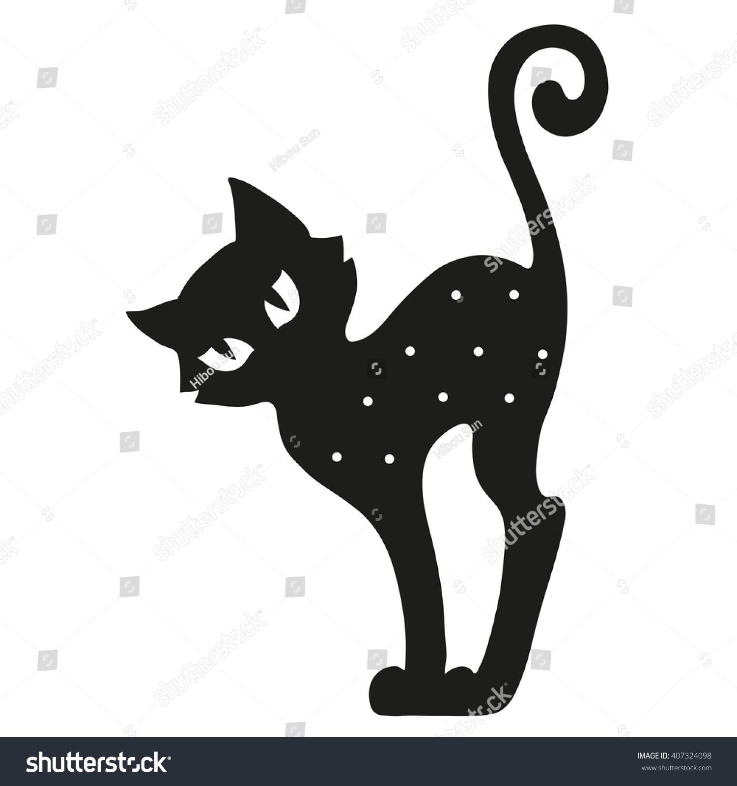 Silhouette Cat Template Design Stock Photo Photo Vector