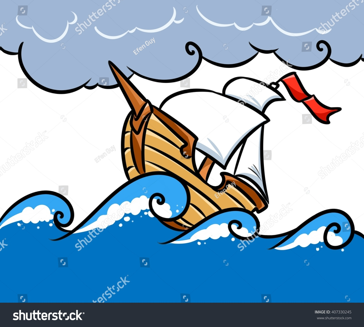 storm ship sea cartoon illustration stock illustration sailfish clip art that is not a square picture sailfish clipart black and white