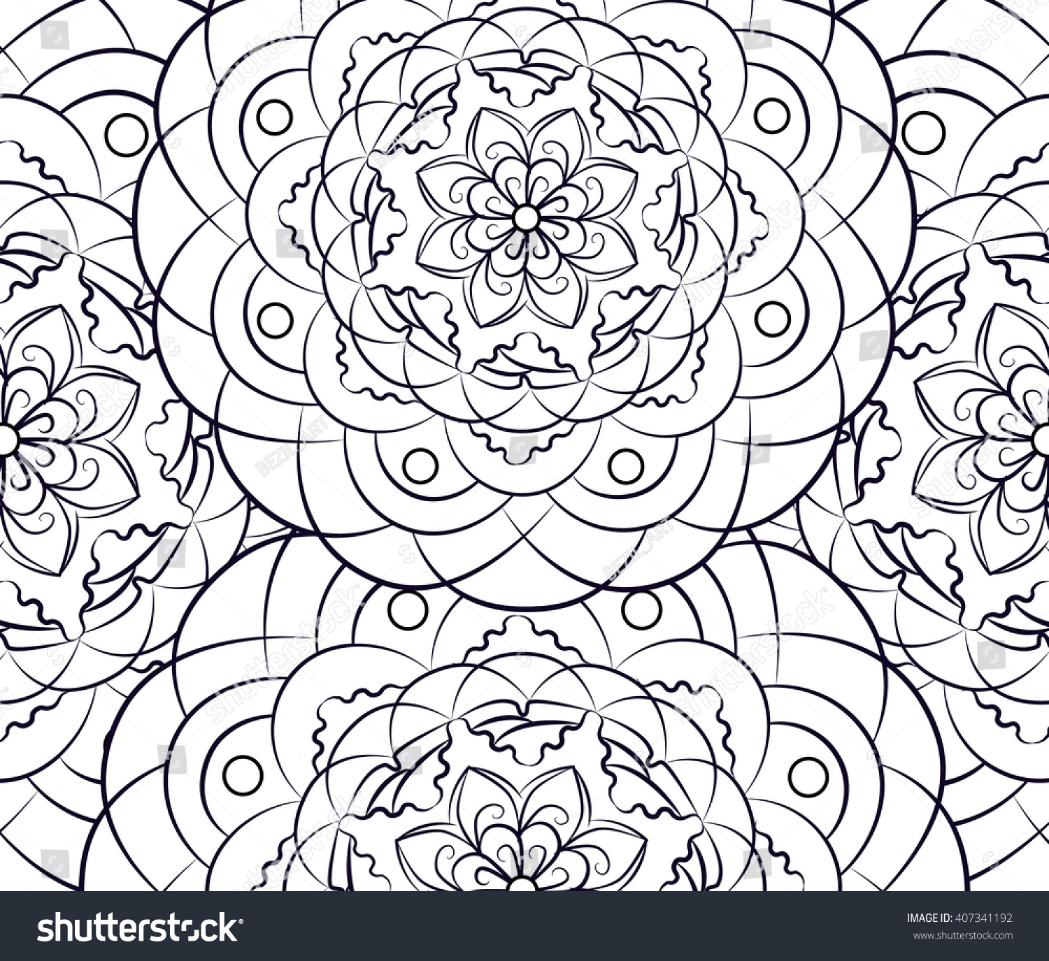 Coloring Pages Adults Older Children Painting Stock Vector (Royalty ...