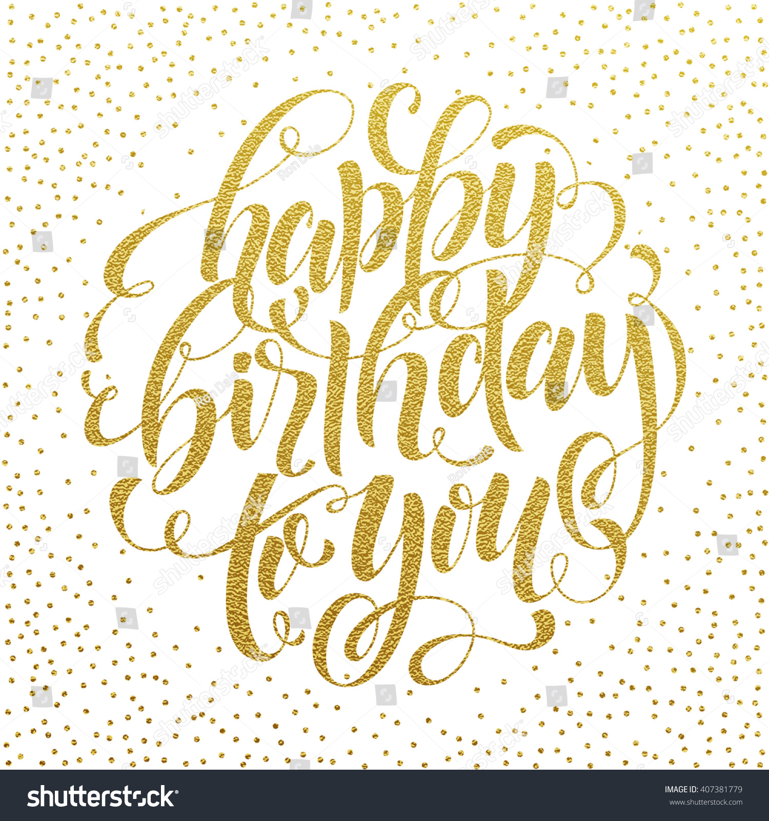 happy birthday you lettering gold frame stock vector happy birthday you vector gold glitter stock vector 146