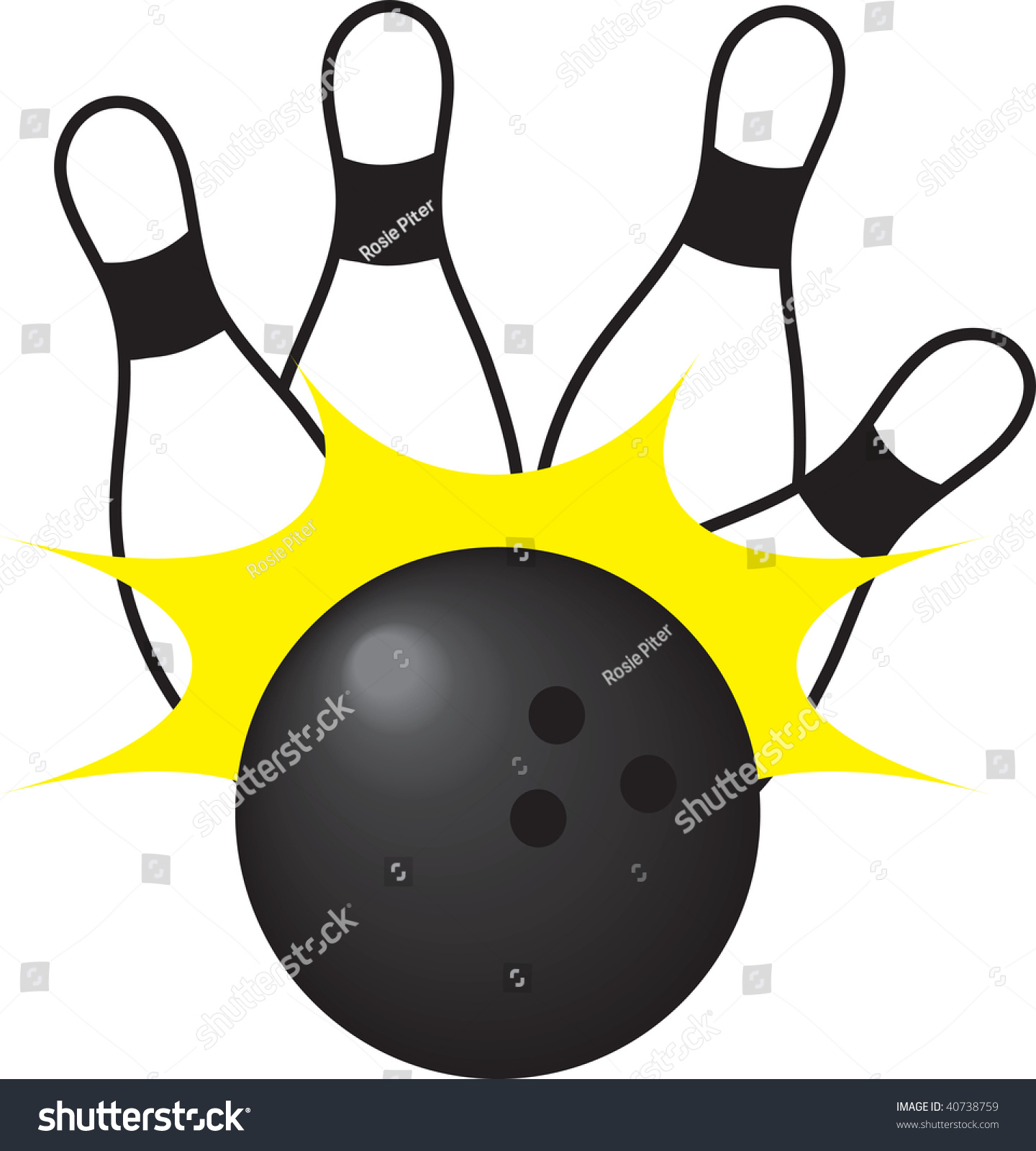 clipart illustration bowling ball knocking over stock illustration rh shutterstock com bowling ball pins clip art bowling ball clip art free