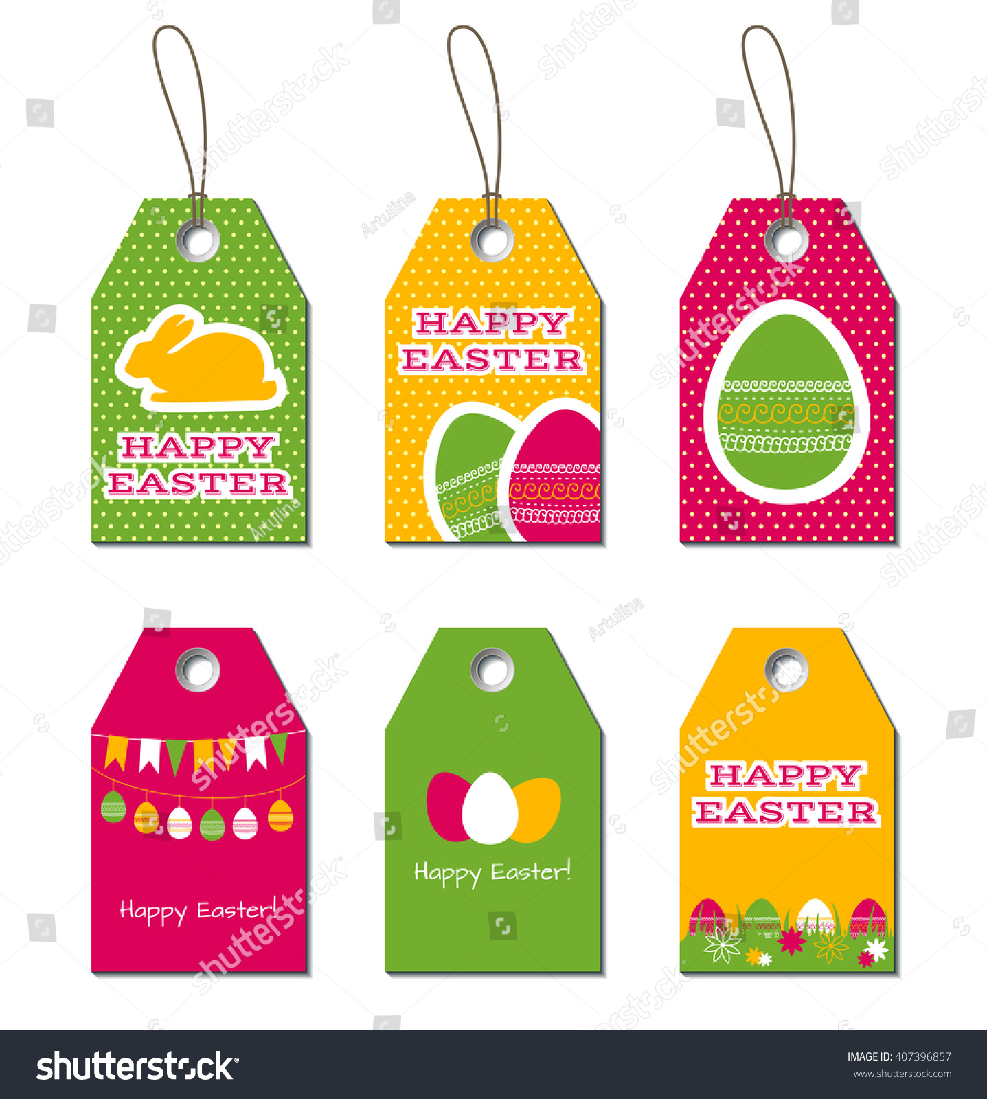 Easter tags easter greetings small gift stock illustration easter tags easter greetings small gift cards for easter design with bunny and eggs negle Choice Image