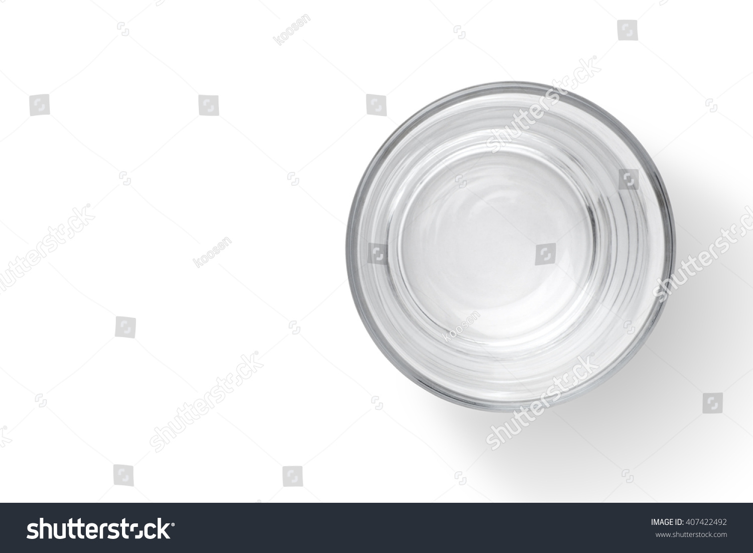 Empty Cup Top : Top view empty glass cup on stock photo