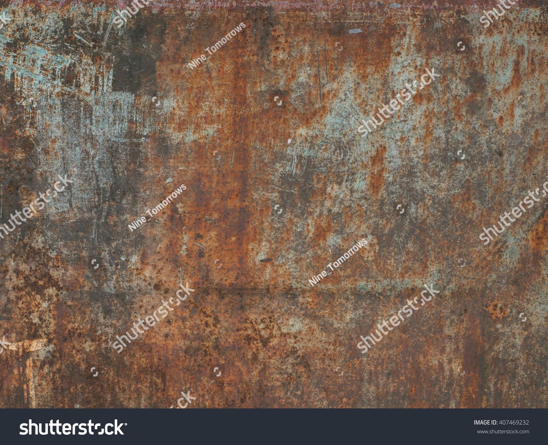 Dark worn rusty metal texture background.  #407469232