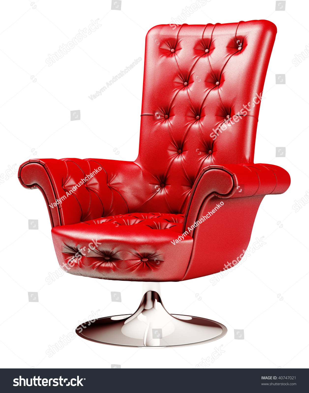 Red fice Chair Isolated Over White Stock Illustration
