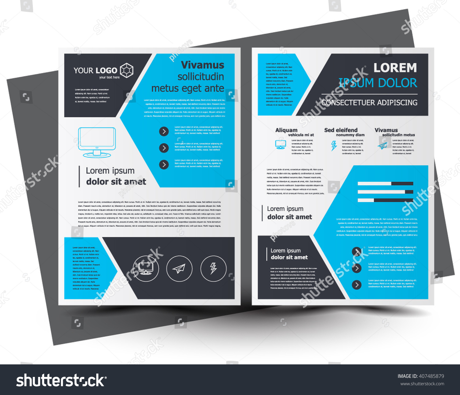 Flyer Brochure Design Business Flyer Size Vector 407485879 – Business Brochure Design
