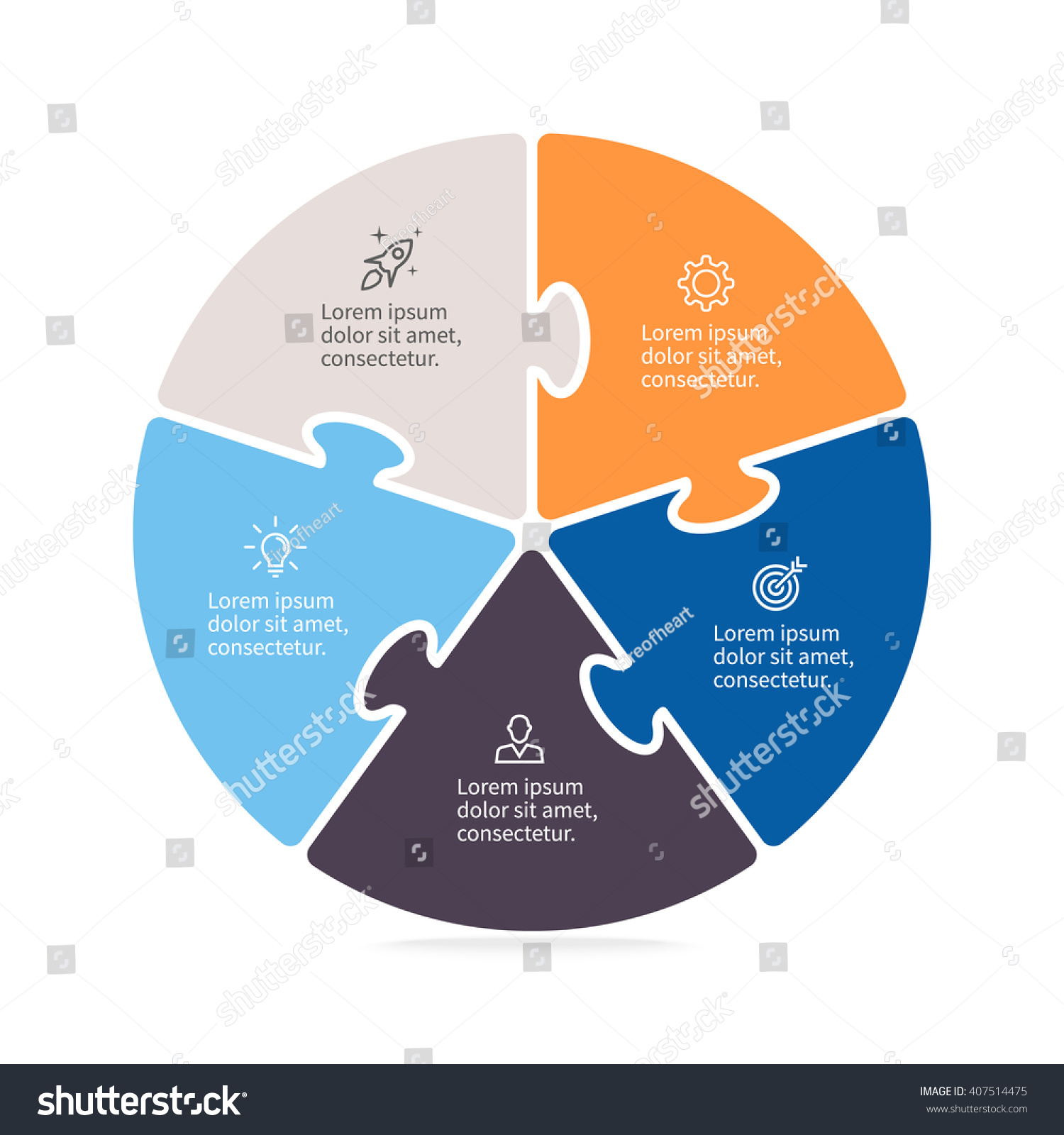 Pie chart diagram 5 steps options stock vector 407514475 pie chart diagram with 5 steps options nvjuhfo Choice Image