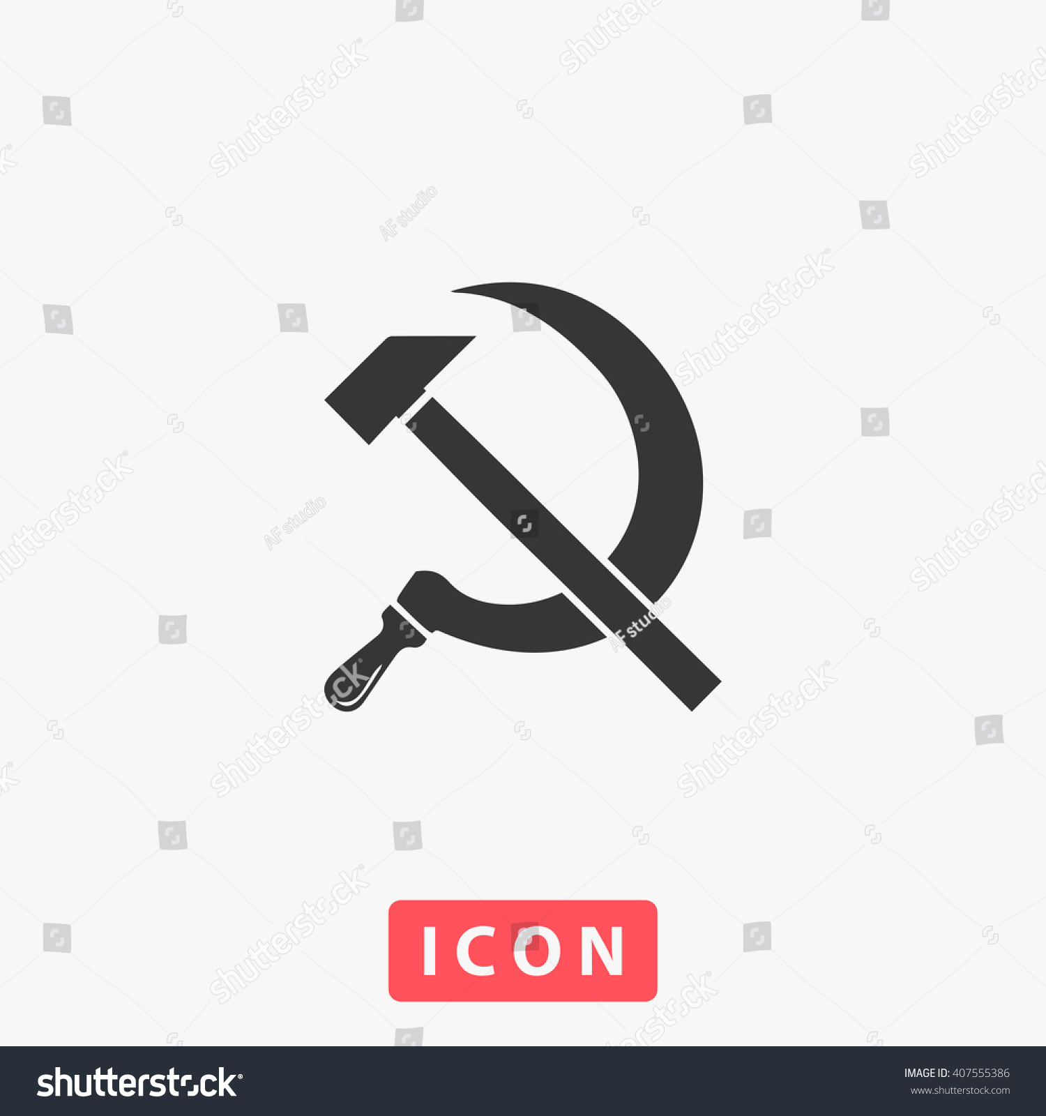 how to draw a hammer and sickle