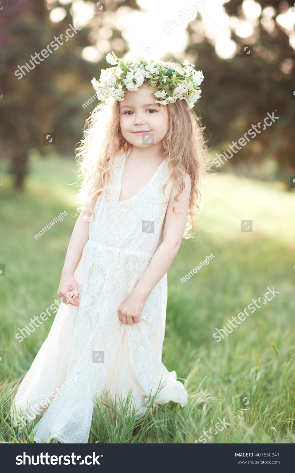 Cute Kid Girl 34 Year Old Stock Photo Edit Now 407630341