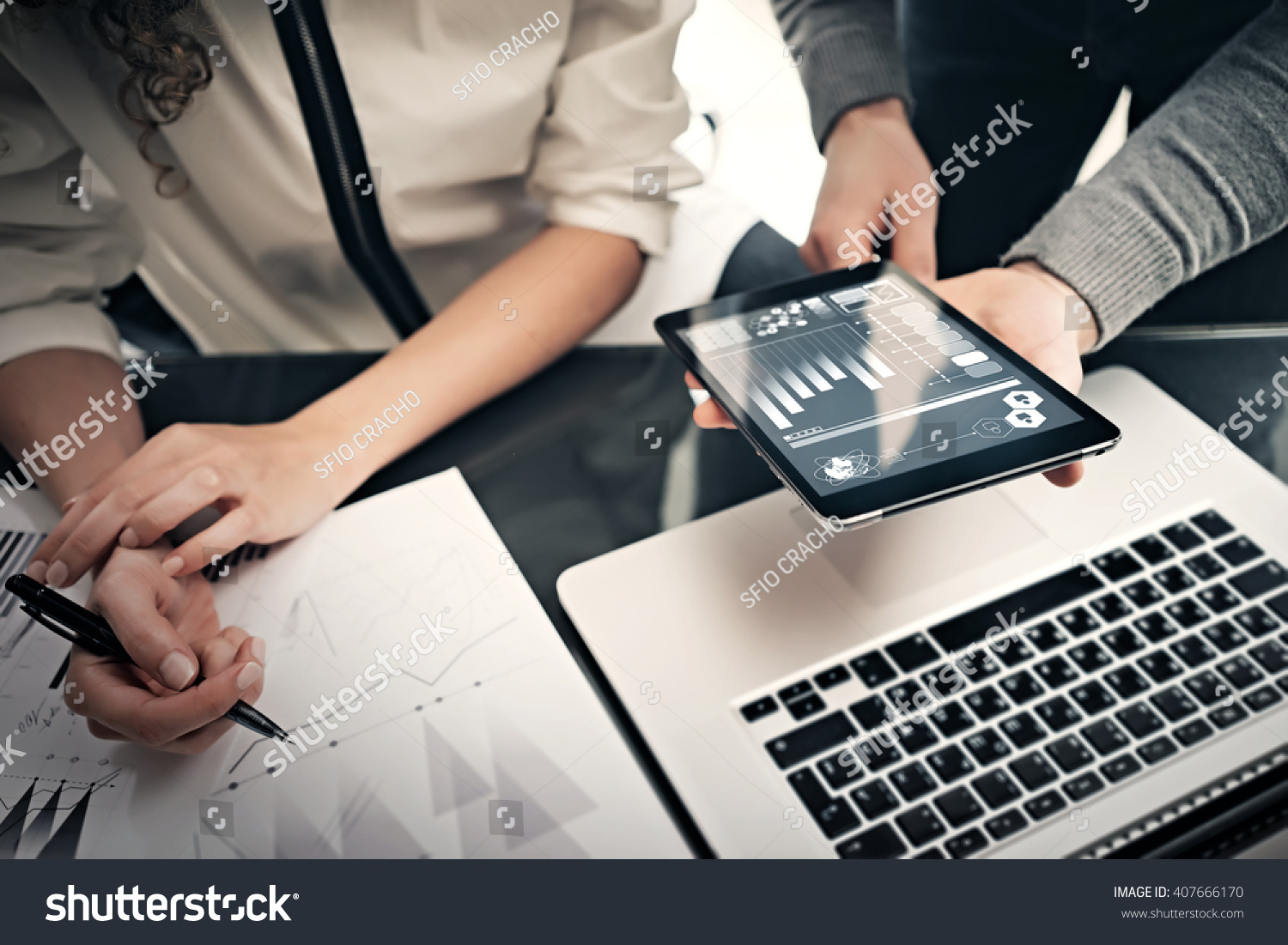 investment department working process photo finance manager stock