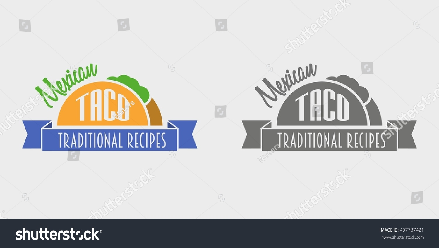 Mexican Taco Vintage Retro Label Emblem Stock Vector 407787421 ...