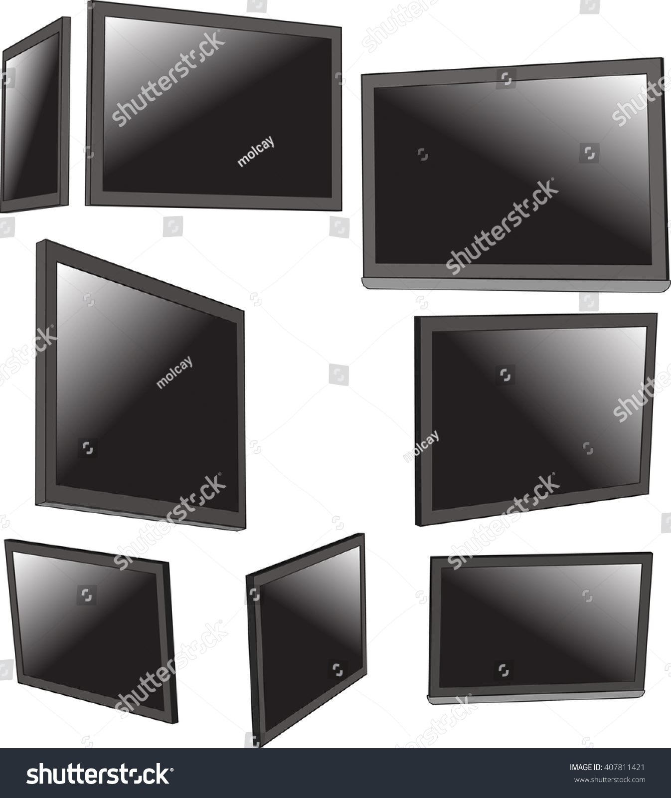 Tv Frame Stock Photo (Photo, Vector, Illustration) 407811421 ...
