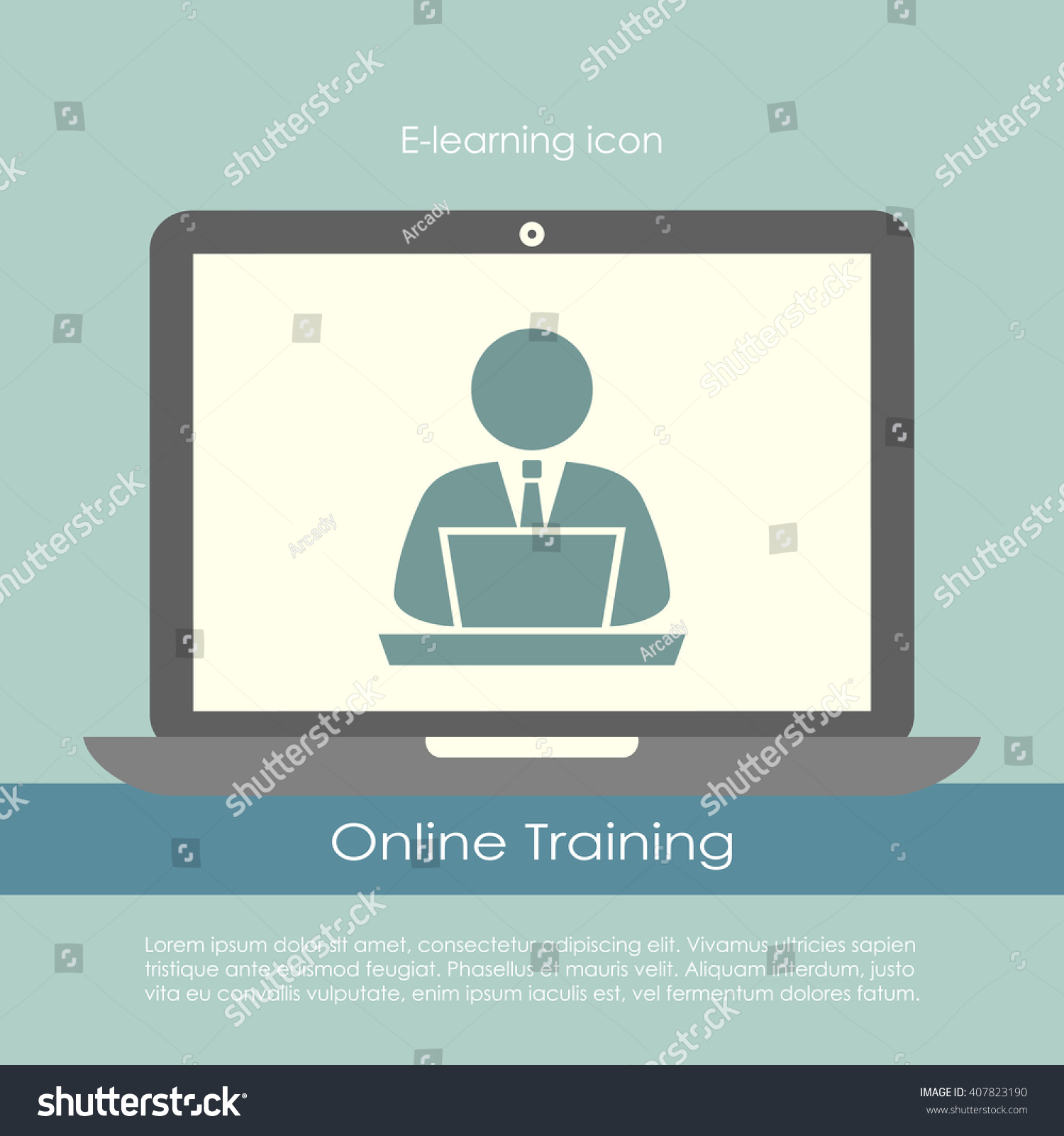 E learning poster designs - E Learning Poster Design Vector Illustration