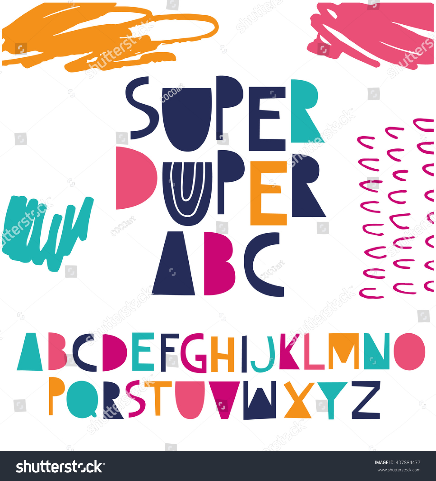 Funky ABC Your Design Vector de stock (libre de regalías)407884477 ...