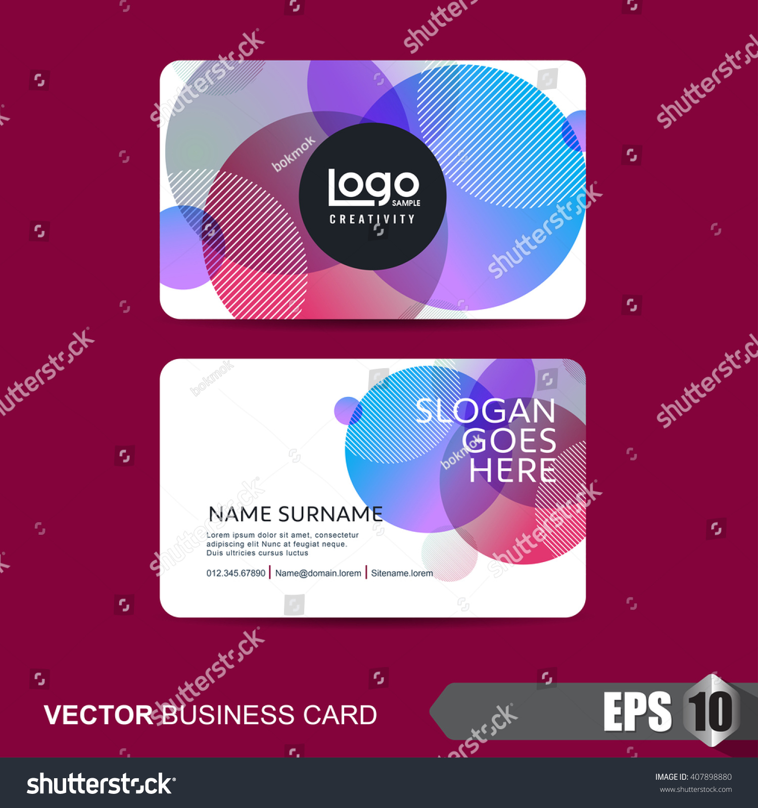 business card template abstract backgroundvector illustration