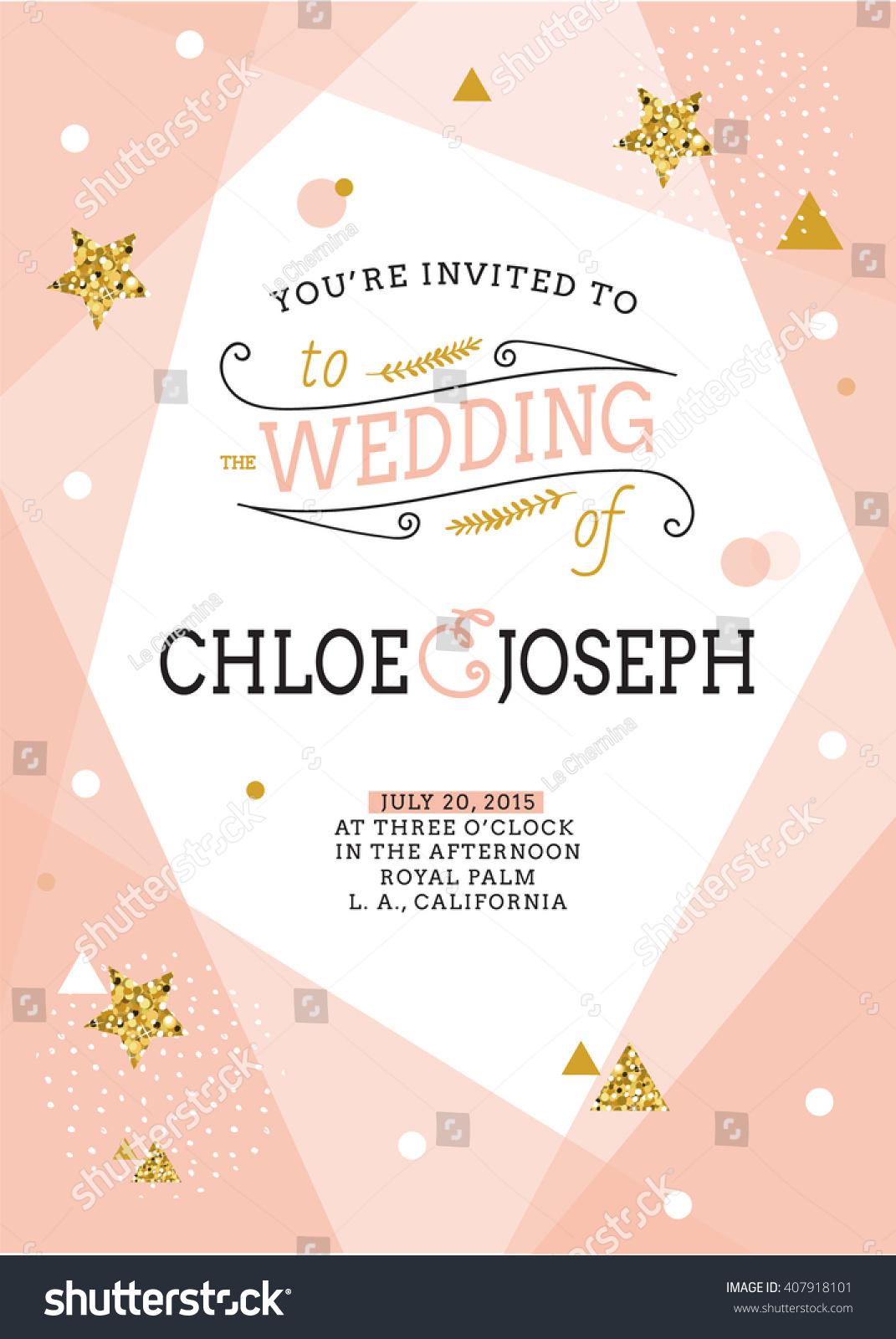Wedding Invitation Card Save Date Card Stock Vector 407918101