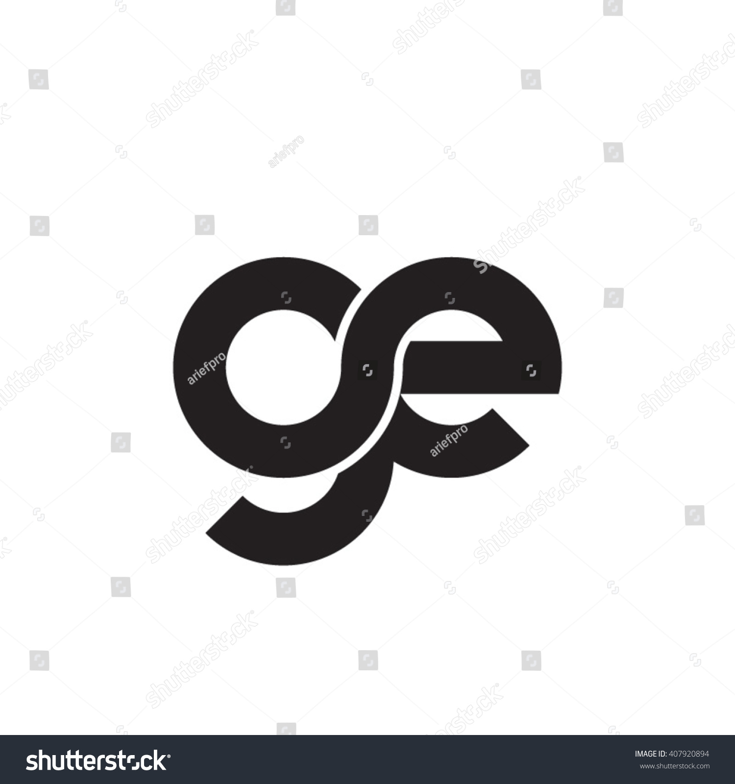 Initial letter ge linked circle lowercase stock vector 407920894 initial letter ge linked circle lowercase monogram logo black biocorpaavc Gallery