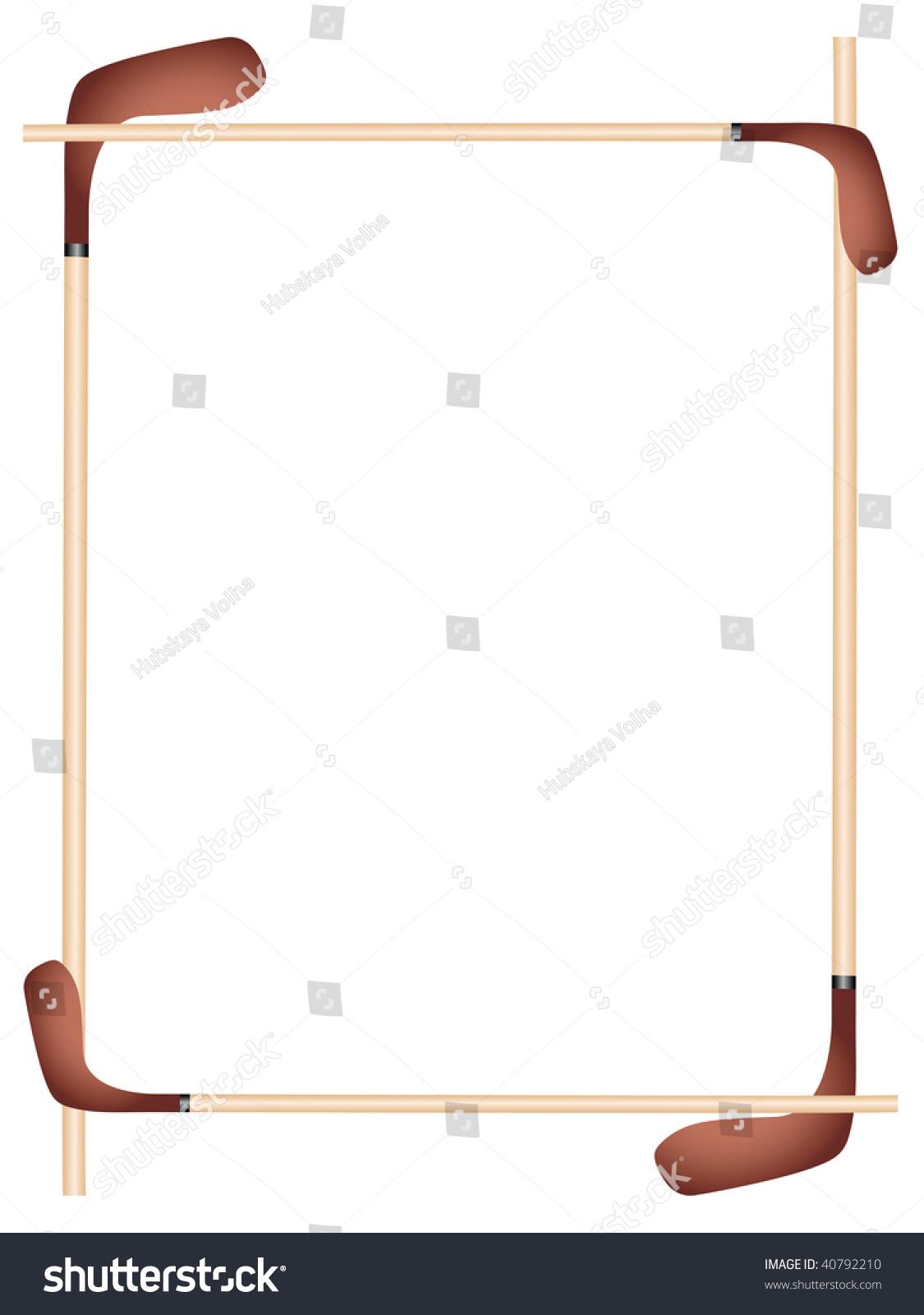 Sports Picture Frame Hockey Stock Illustration 40792210 - Shutterstock