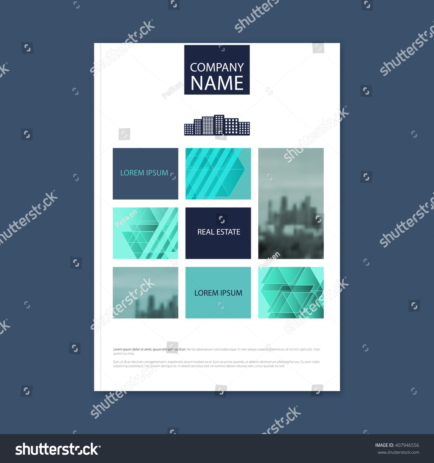 royalty concept of architecture design stock concept of architecture design photo frame vector illustration brochure template for real estate