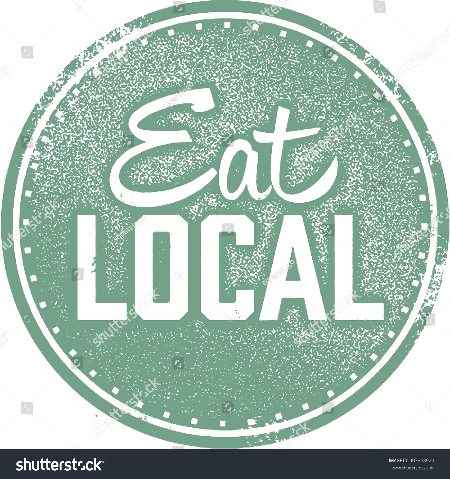 eat local food stamp stock vector royalty free 407968924