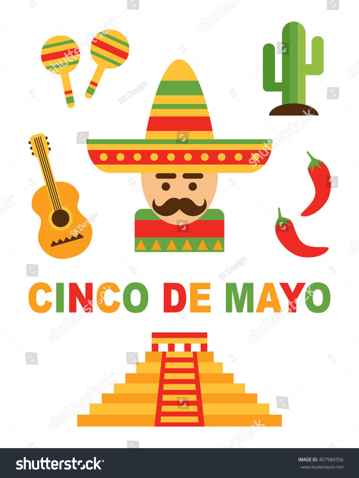 cinco de mayo festival mexican design stock vector 407984356 shutterstock. Black Bedroom Furniture Sets. Home Design Ideas