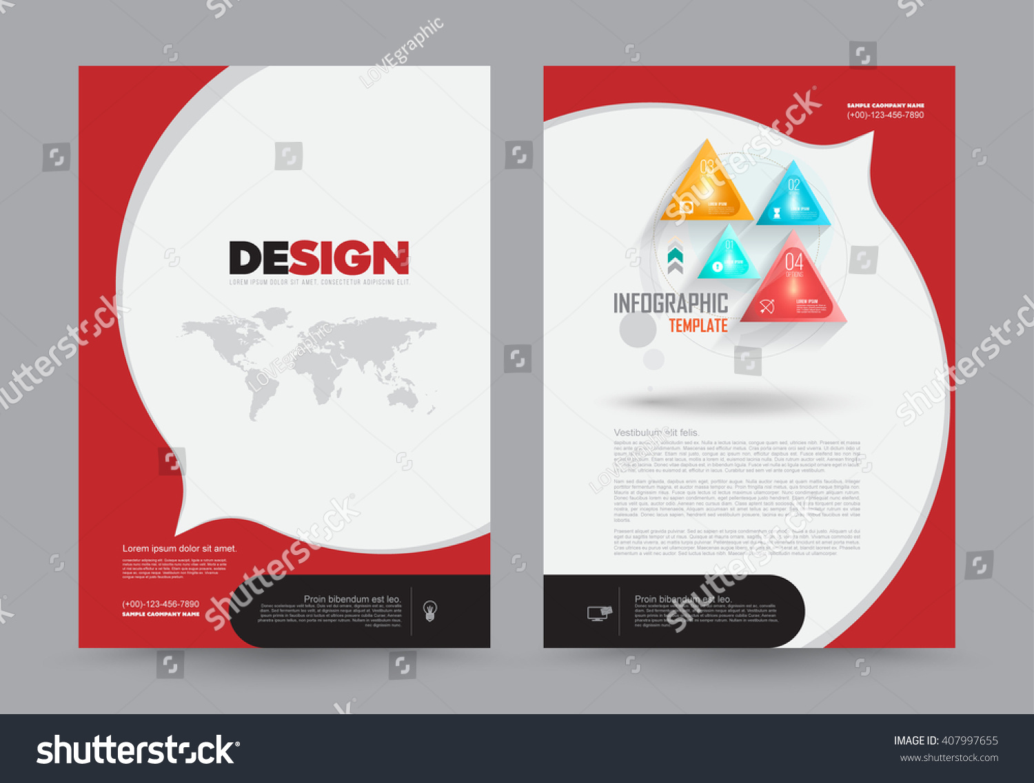 cover annual report leaflet brochure flyer stock vector royalty
