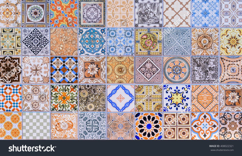 Wall Ceramic Tiles Patterns Mega Set Stock Photo (Download Now ...
