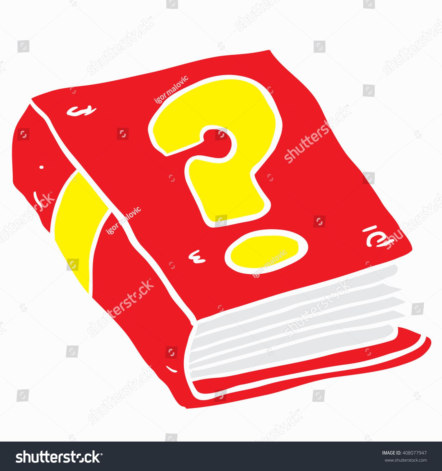 book question mark cartoon stock illustration 408077947 shutterstock