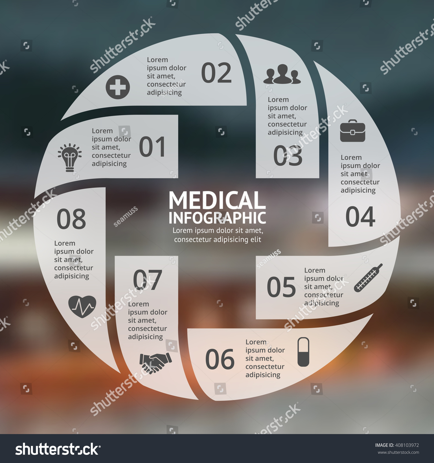 Vector Circle Plus Sign Infographic Template Stock Vector 408103972 ...